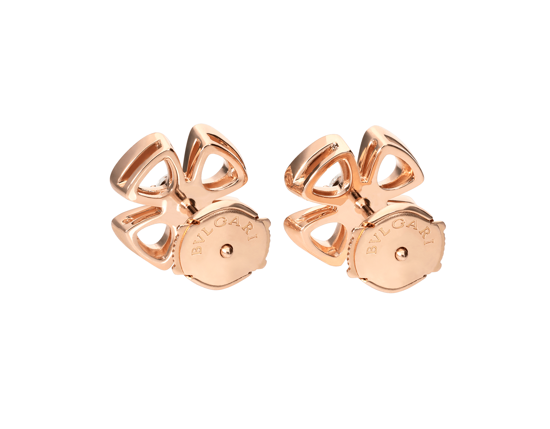 Fiorever 18 kt rose gold earrings set with two central diamonds (0.10 ct each) 355327 image 3