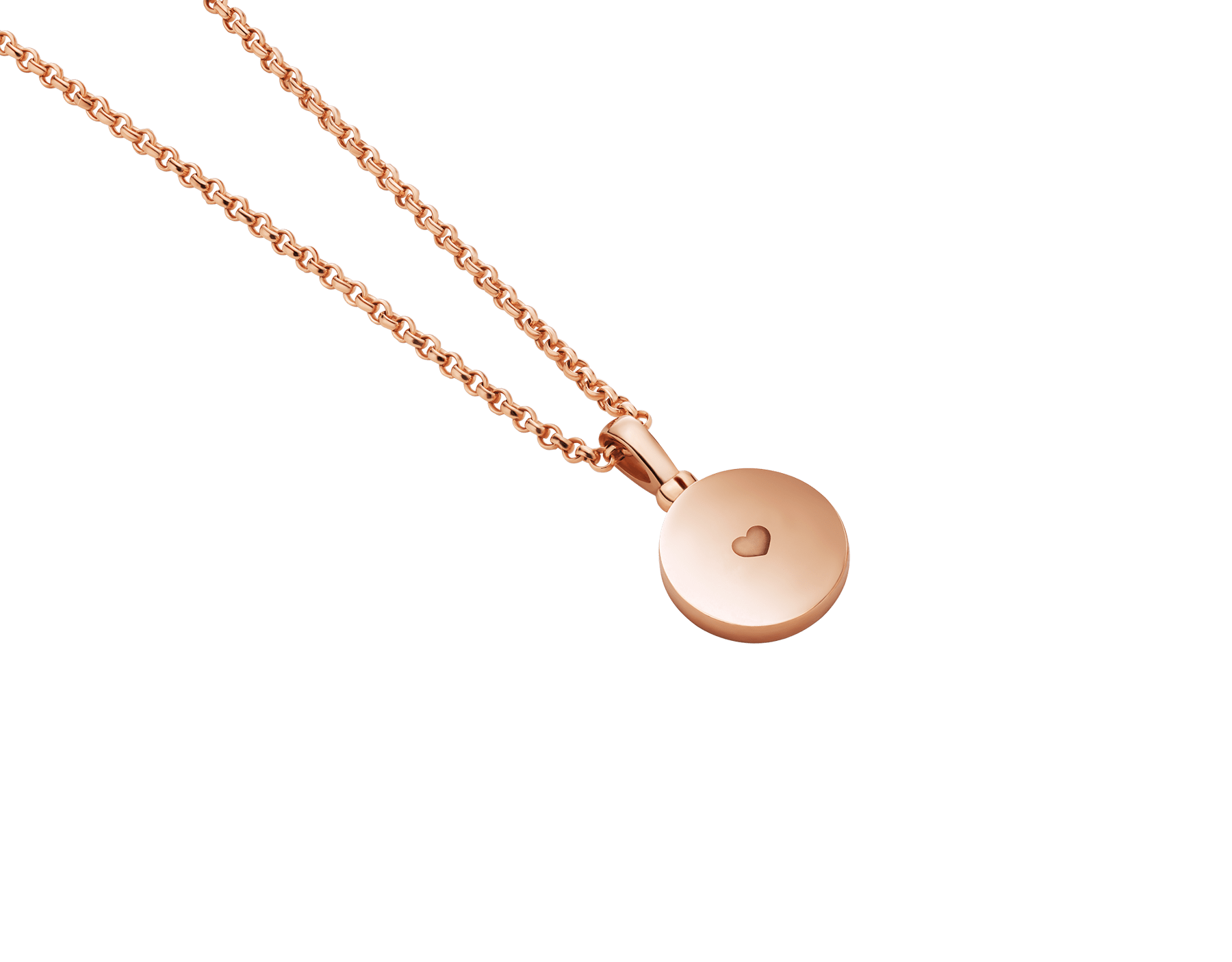 BVLGARI BVLGARI 18 kt rose gold pendant necklace set with mother-of-pearl centre, customisable with engraving on the back 358376 image 4