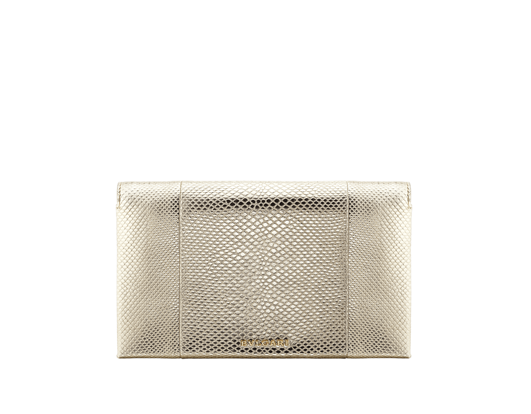 """Serpenti"" evening handle clutch bag in charcoal diamond metallic karung skin. Light gold Serpenti Seduttori handle. 526-HANDLECLUTCH image 3"