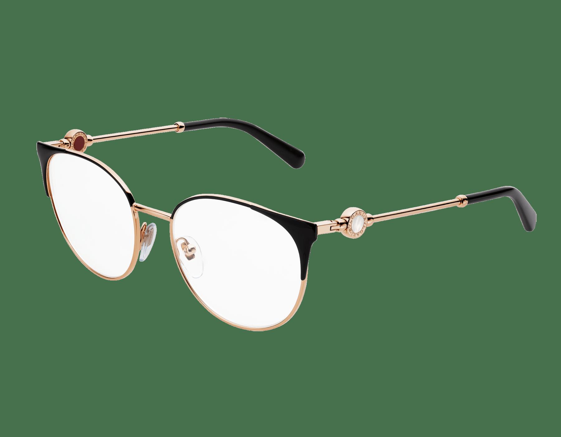Occhiali da vista Bvlgari Bvlgari con montatura in metallo dalla forma tondeggiante. 903553 image 1