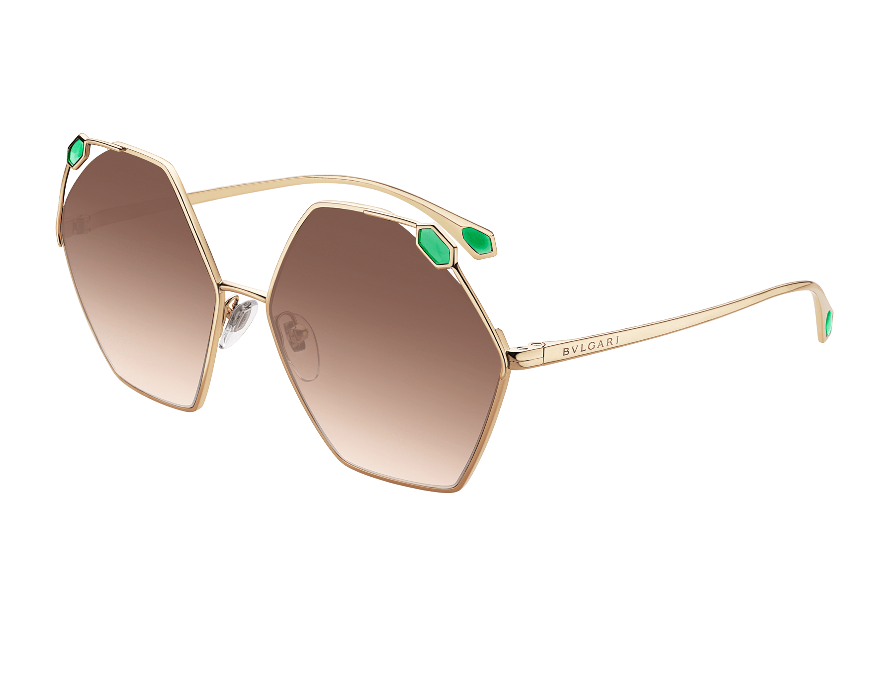 """An elegant box composed of a """"Molten""""  light gold karung skin folded card holder and hexagonal metal sunglasses, for a special gift. Women-Gift Set-folded-card-holder-and-sunglasses image 4"""
