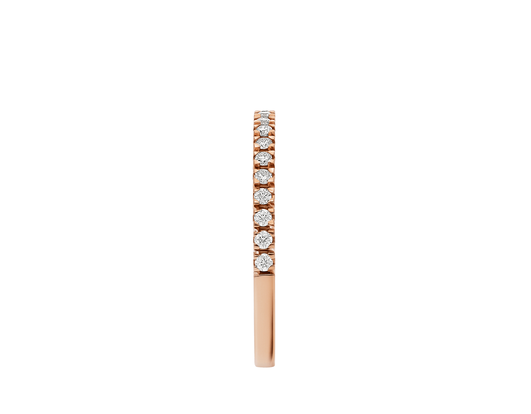 Alliance Eternity fine en or rose 18 K avec demi-tour diamants ronds taille brillant AN857561 image 3