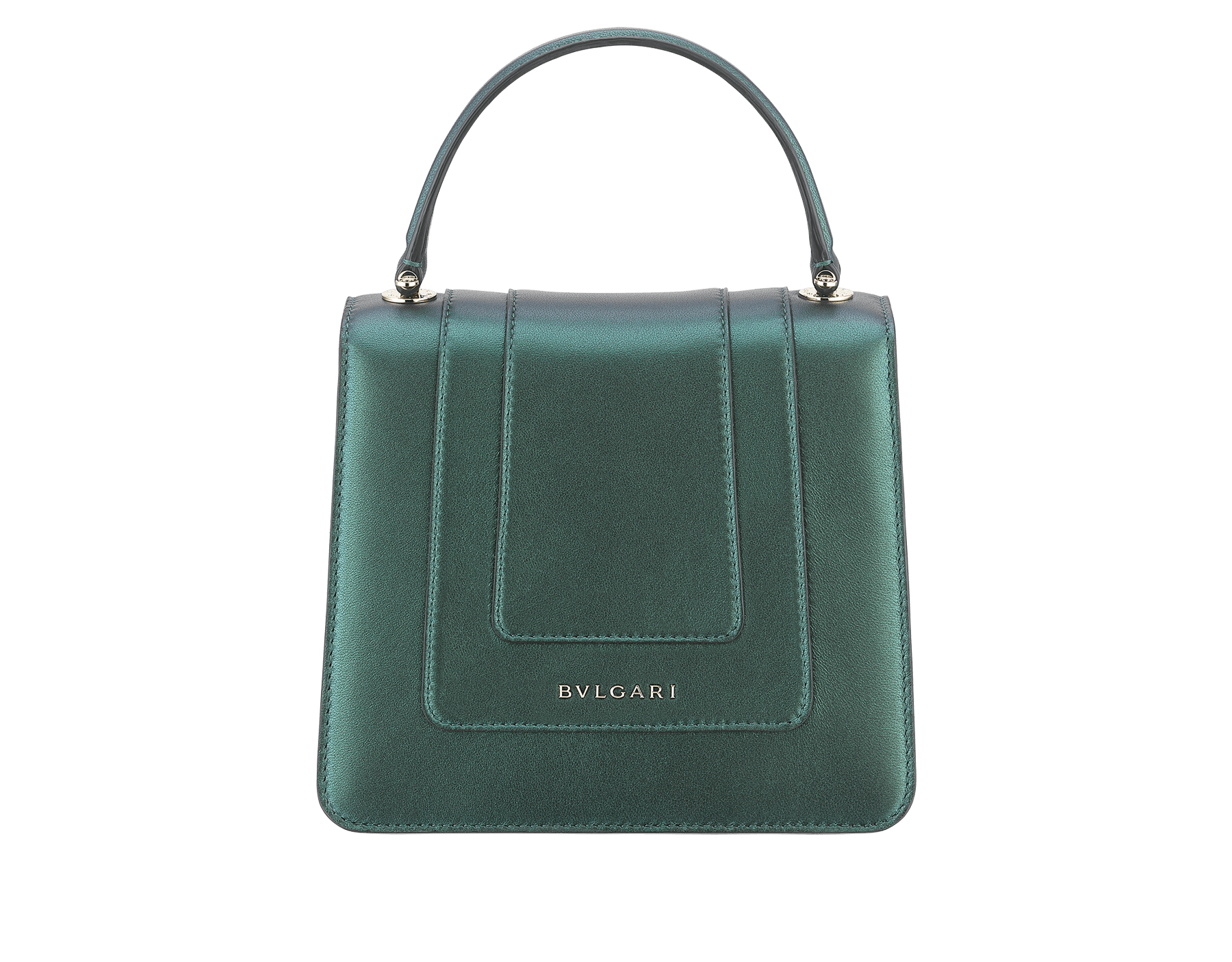 """Serpenti Forever "" crossbody bag in pearled emerald nappa leather. Iconic snakehead closure in light gold plated brass enriched with black and forest emerald enamel and green malachite eyes. Special Edition. 289837 image 3"
