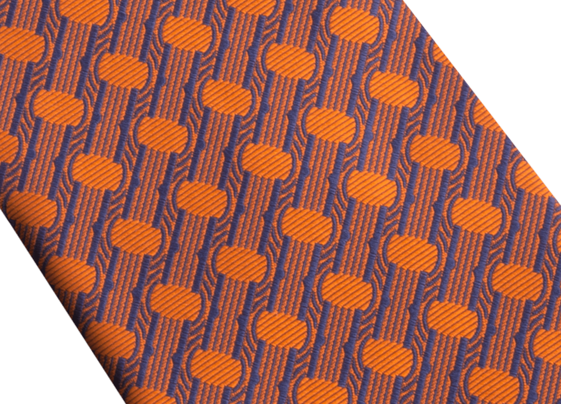 Saffron B.zero1 pattern seven-folds tie in fine silk. 243683 image 4
