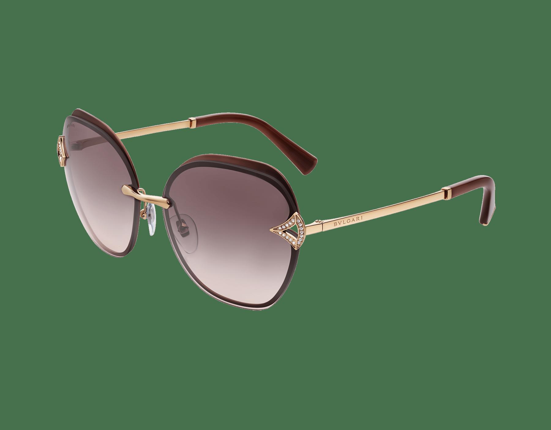 Bvlgari DIVAS' DREAM angular squared metal sunglasses 903670 image 1