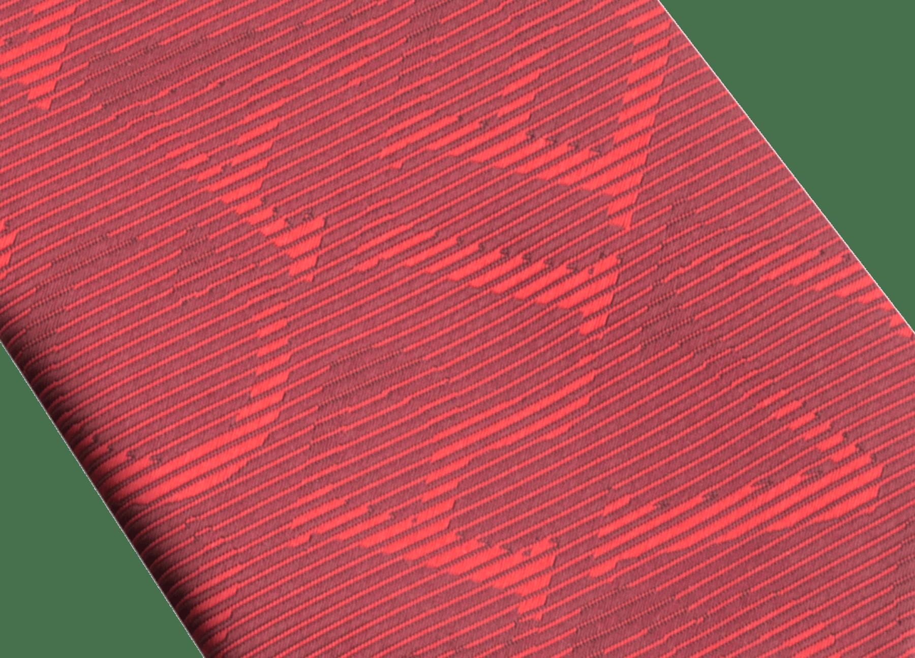 ピンクの「ロゴ オプティカル」セブンフォールドタイ。上質なジャカードシルク製。 LOGOOPTICAL image 2