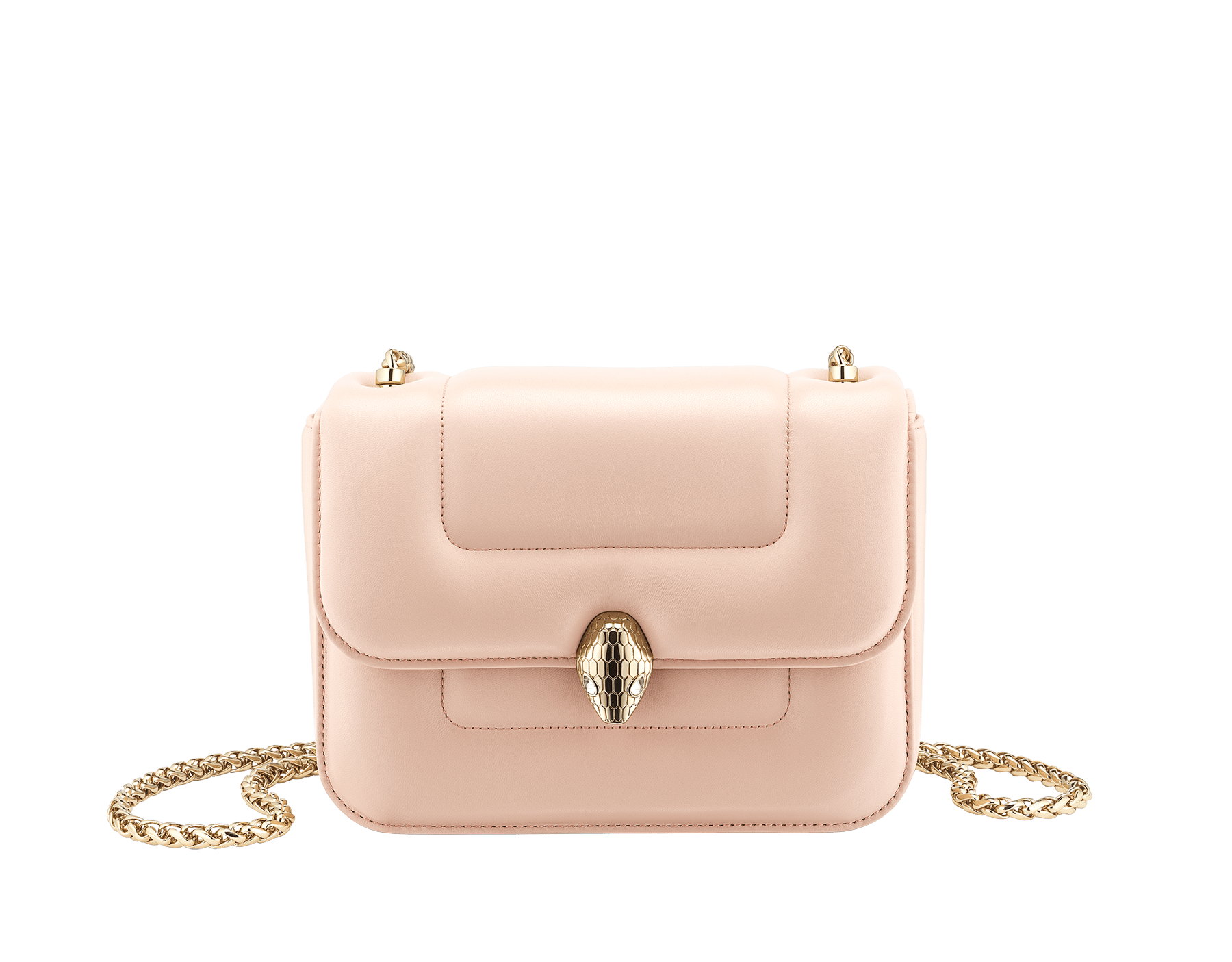 """""""Mary Katrantzou x Bvlgari"""" top handle bag in soft matelassé Aegean Topaz blue nappa leather, with Aegean Topaz blue nappa leather inner lining. New Serpenti head closure in gold-plated brass, finished with seductive crystal eyes. Special Edition. MK-1142 image 4"""
