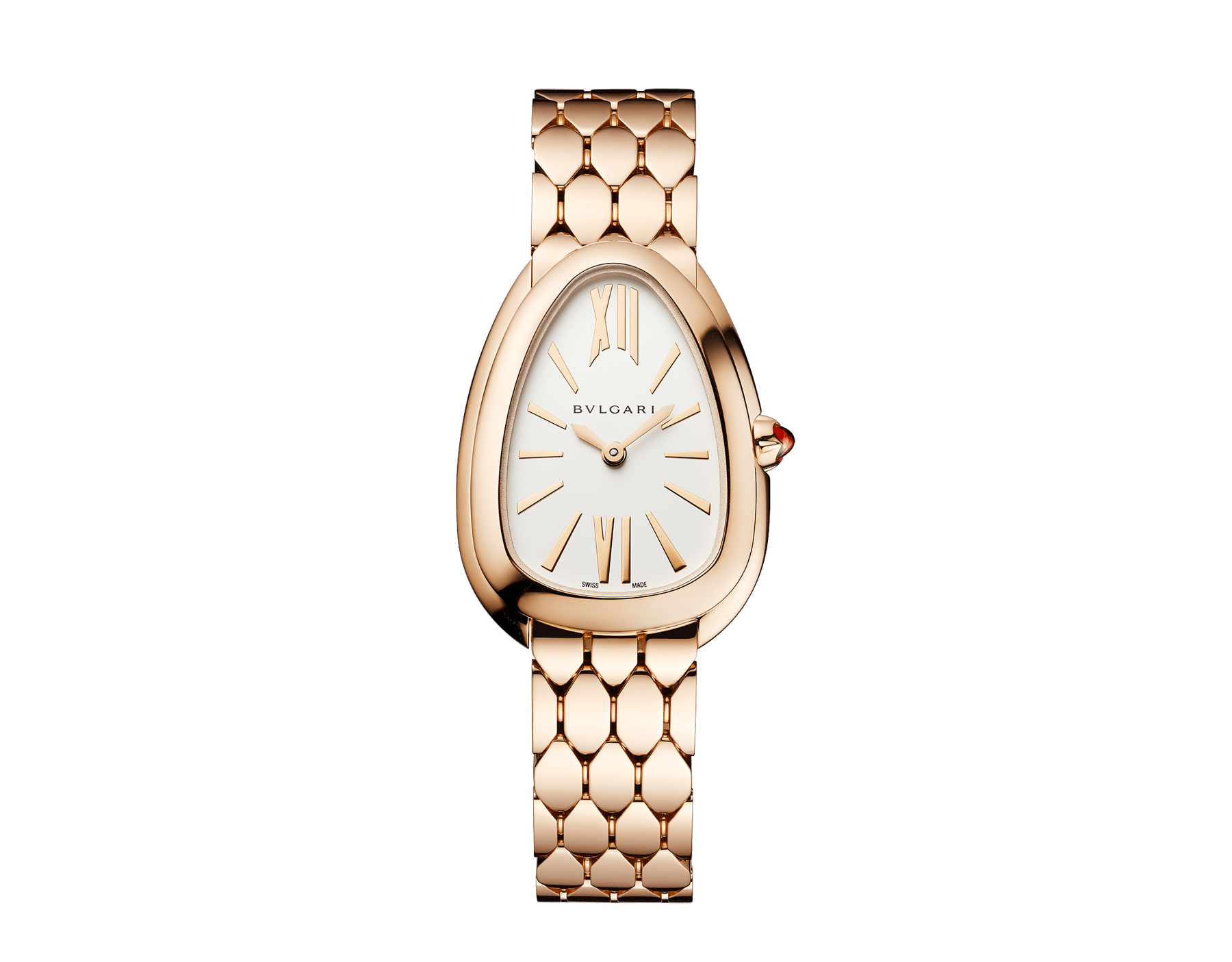 Serpenti Seduttori watch with 18 kt rose gold case, rose gold bracelet and a white silver opaline dial. 103145 image 1