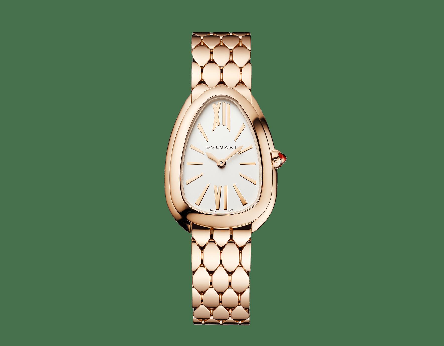 Orologio Serpenti Seduttori con cassa e bracciale in oro rosa 18 kt e quadrante opalino argento. 103145 image 1