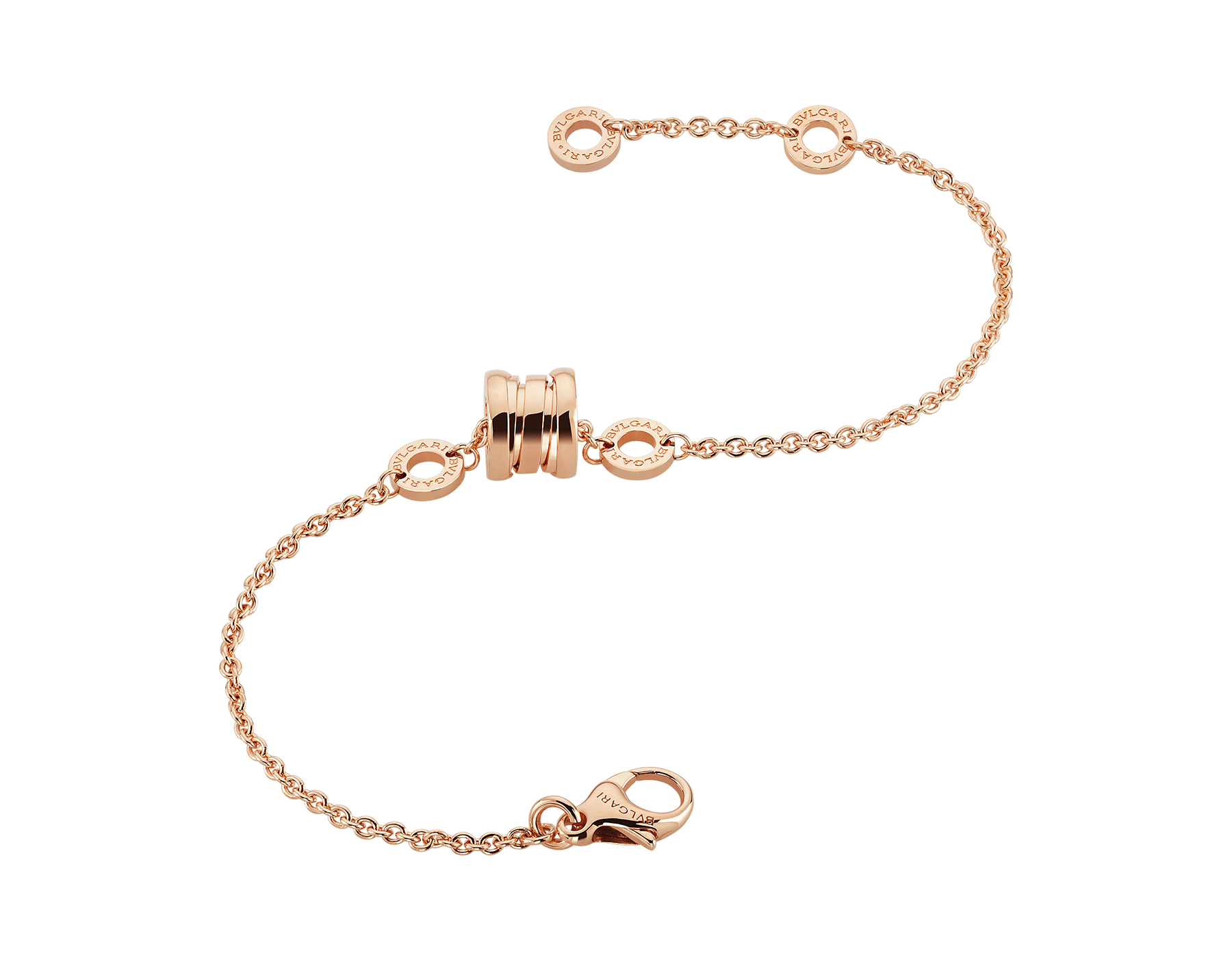 B.zero1 soft bracelet in 18 kt rose gold. BR857254 image 2