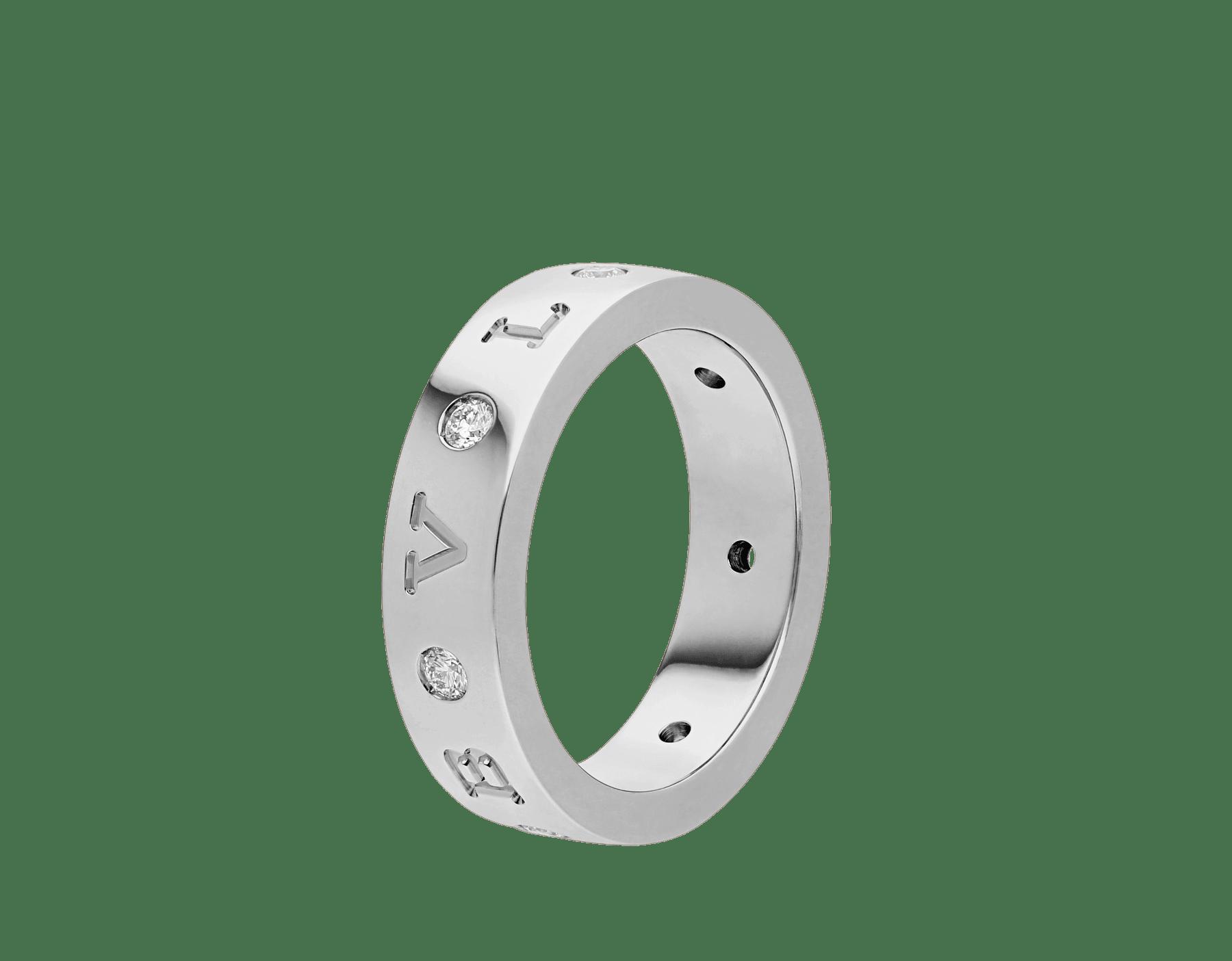 BVLGARIBVLGARI Band-Ring aus 18 Karat Weißgold mit sieben Diamanten AN858097 image 1
