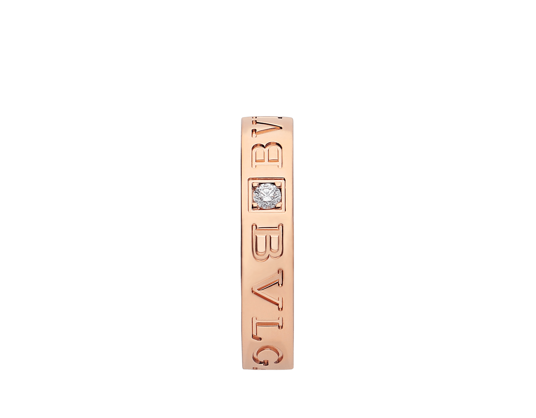BVLGARI BVLGARI 18 kt rose gold ring set with a diamond AN854185 image 3