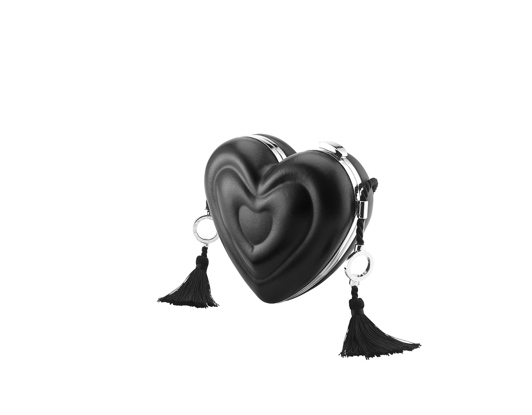 Minaudière Ambush x Bvlgari en aluminium avec une doublure en cuir nappa noir et des détails en laiton. Nouveau fermoir emblématique Serpenti avec yeux en onyx au charme envoûtant. Édition limitée. YA-MINAUDIERE image 2