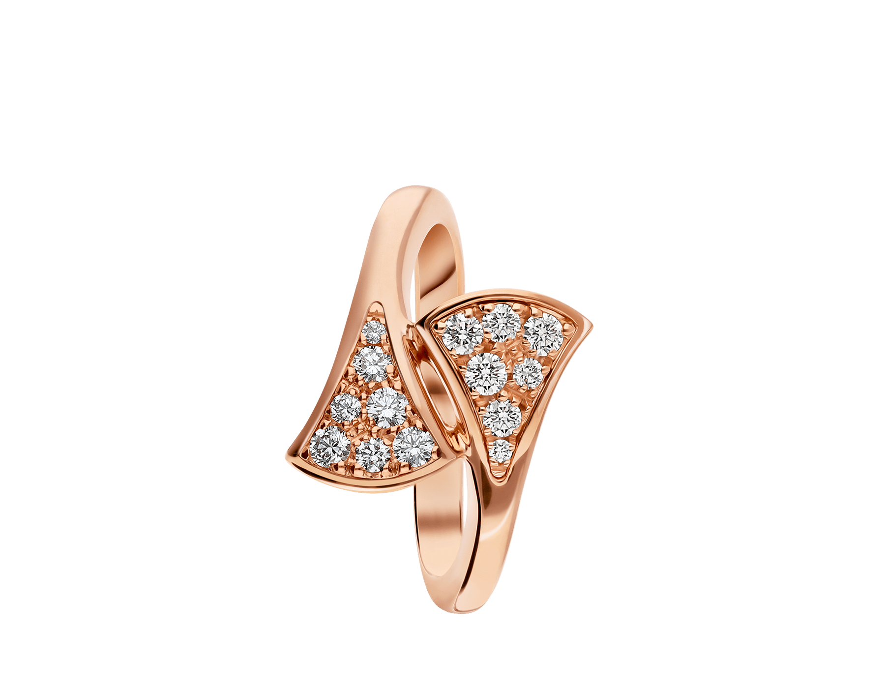 DIVAS' DREAM 18 kt rose gold ring set with pavé diamonds. AN858647 image 2