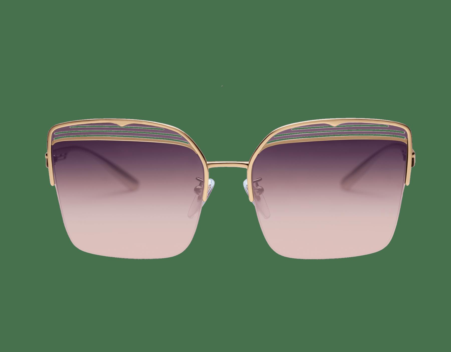 Bvlgari B.zero1 B.overvibe half-rim square metal sunglasses. 903813 image 2