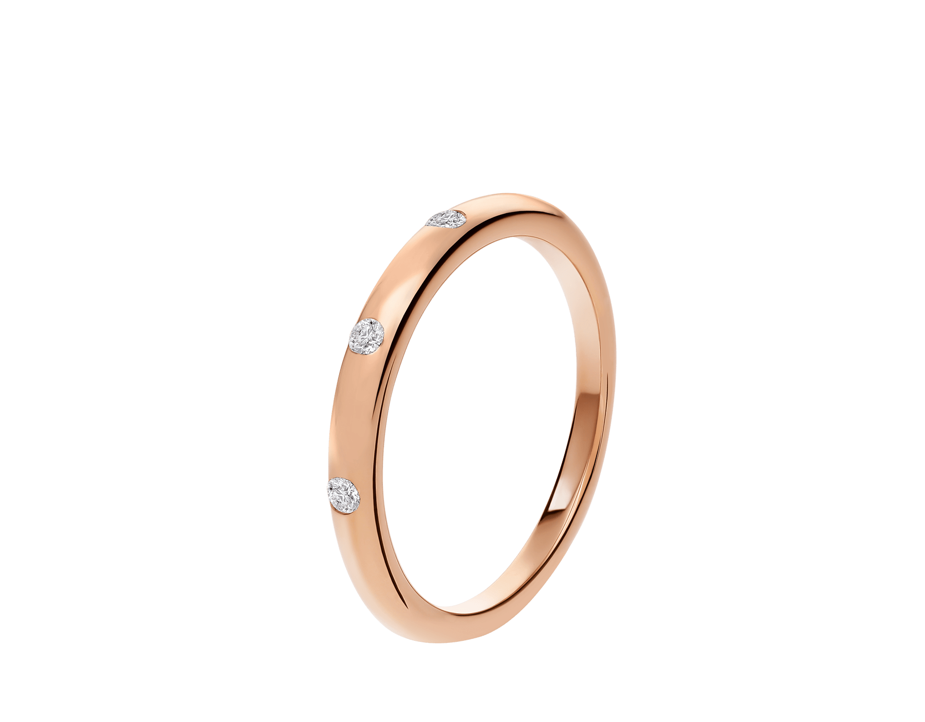 Fedi Wedding Band in 18 kt rose gold with three diamonds AN857546 image 1