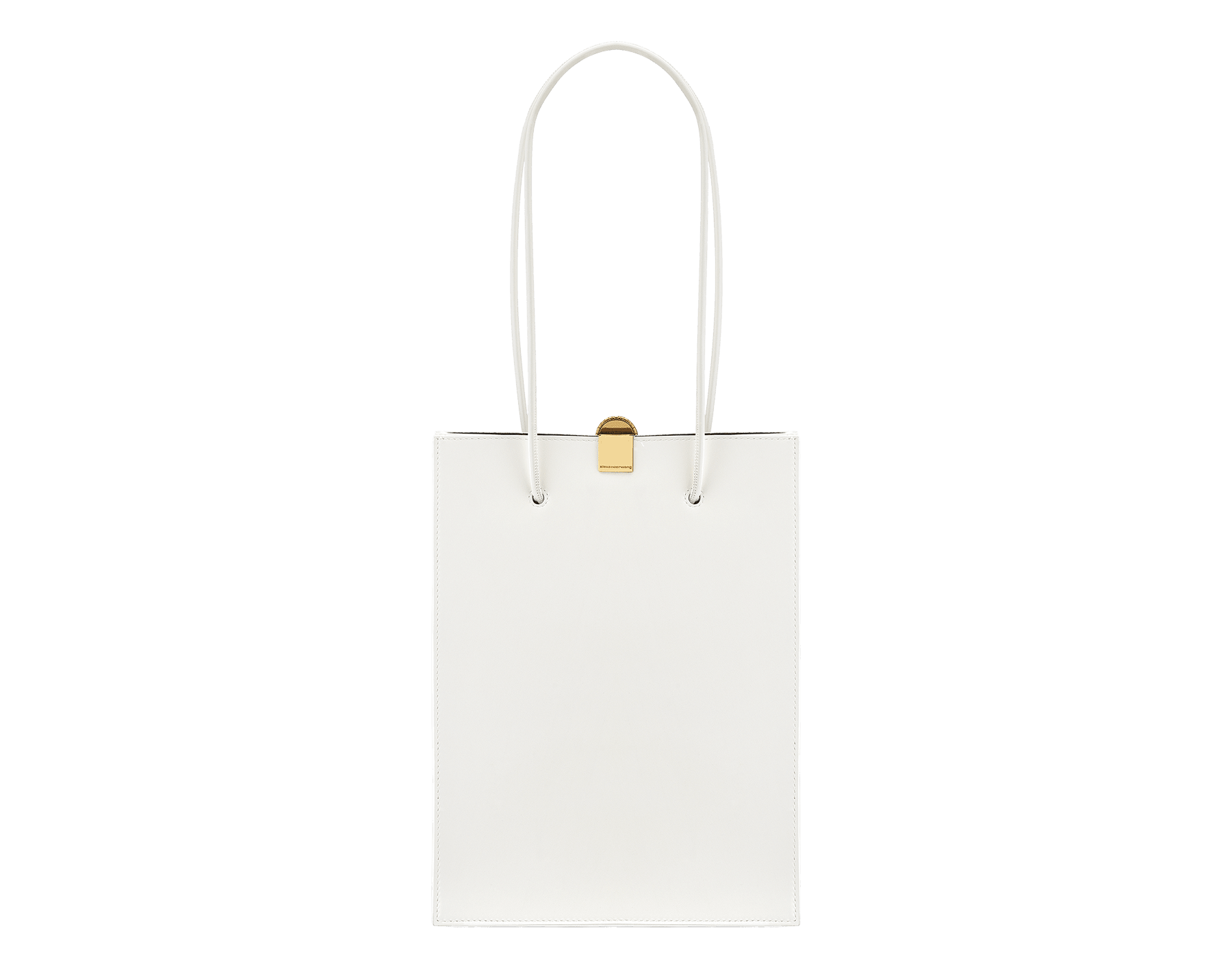 Alexander Wang x Bvlgari shopping tote bag in smooth white calf leather. New Serpenti head closure in antique gold plated brass with tempting red enamel eyes. Limited edition. 288730 image 3