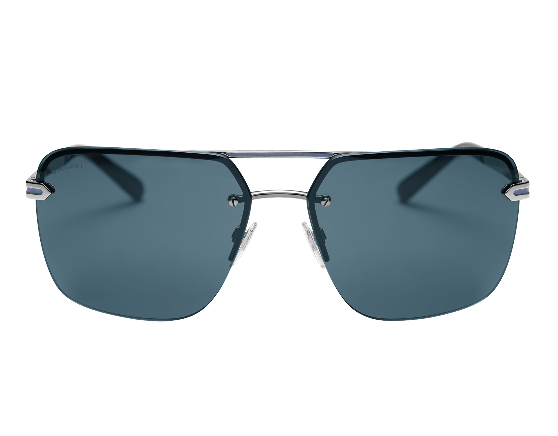 Bvlgari Bvlgari Man metal double bridge rectangular sunglasses. 904057 image 2