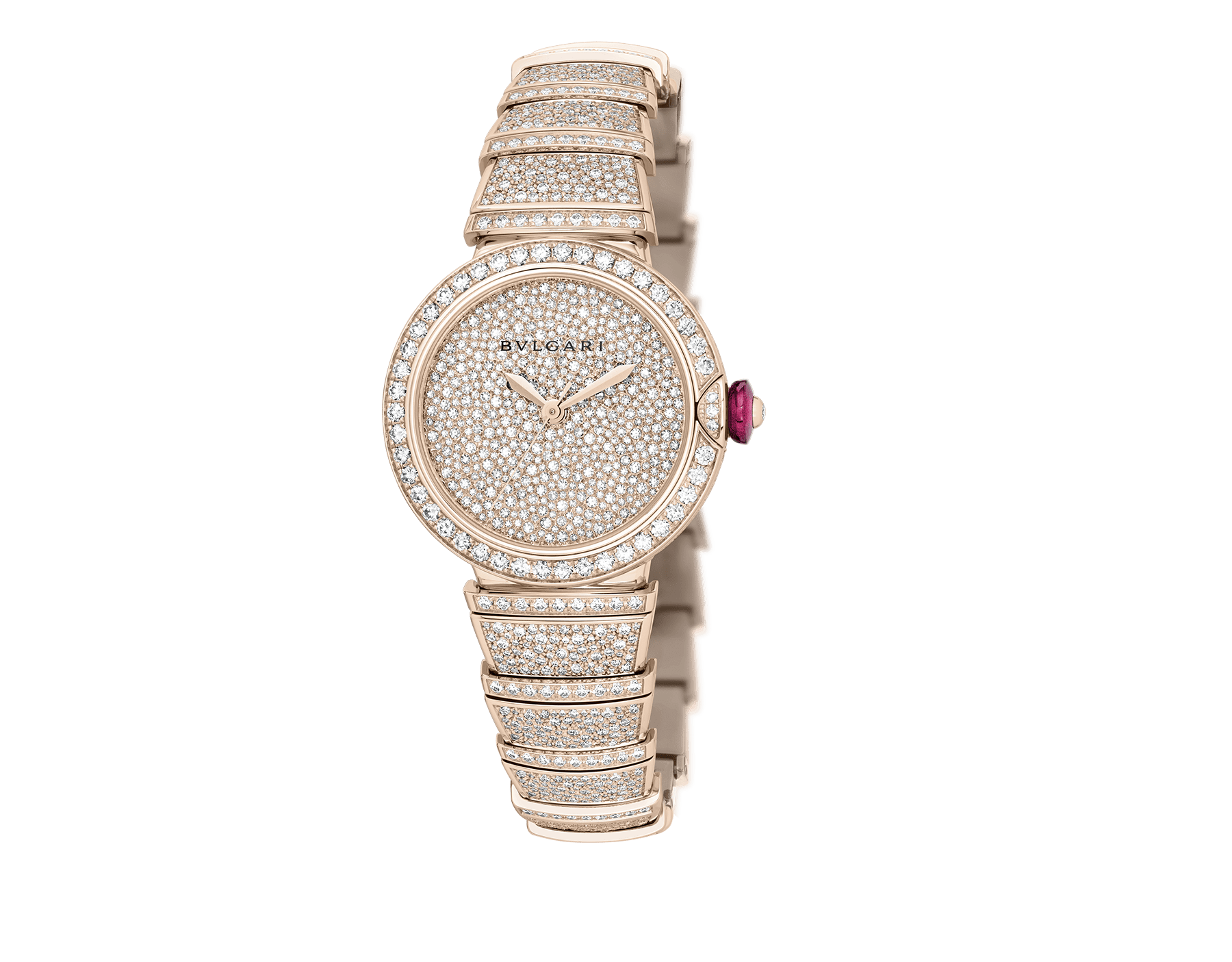LVCEA watch in 18kt rose gold case and bracelet, both set with brilliant-cut diamonds, and full pavé diamond dial. 102617 image 2