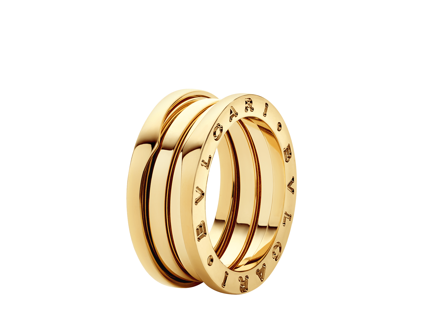 B.zero1 three-band ring in 18 kt yellow gold. B-zero1-3-bands-AN191023 image 1