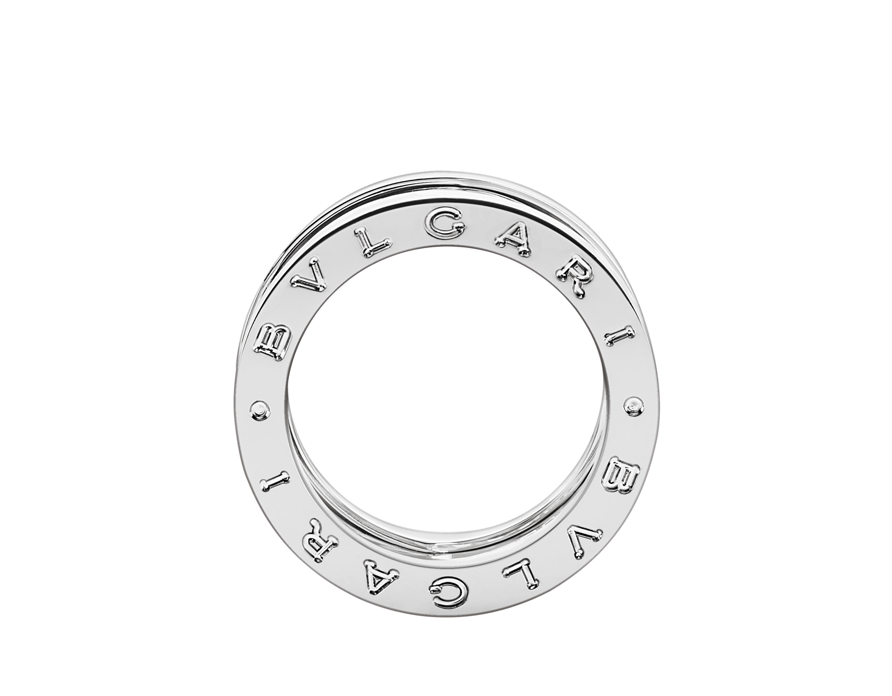18Kホワイトゴールド製ビー・ゼロワン デザイン レジェンド リング。スパイラル上にパヴェダイヤモンドをあしらいました。 AN858378 image 2