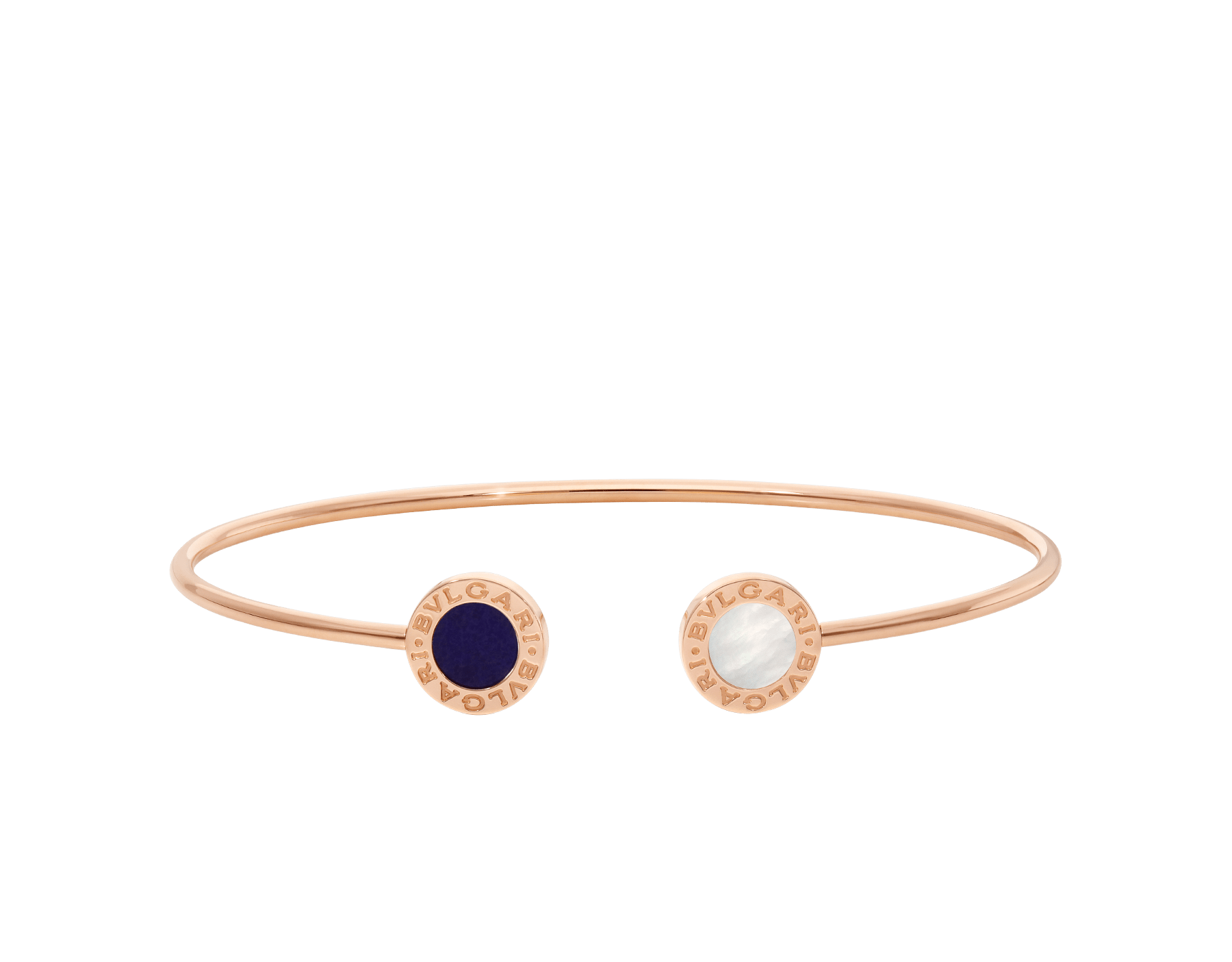 BVLGARI BVLGARI 18 kt rose gold bracelet set with mother-of-pearl and sugilite elements BR858694 image 2