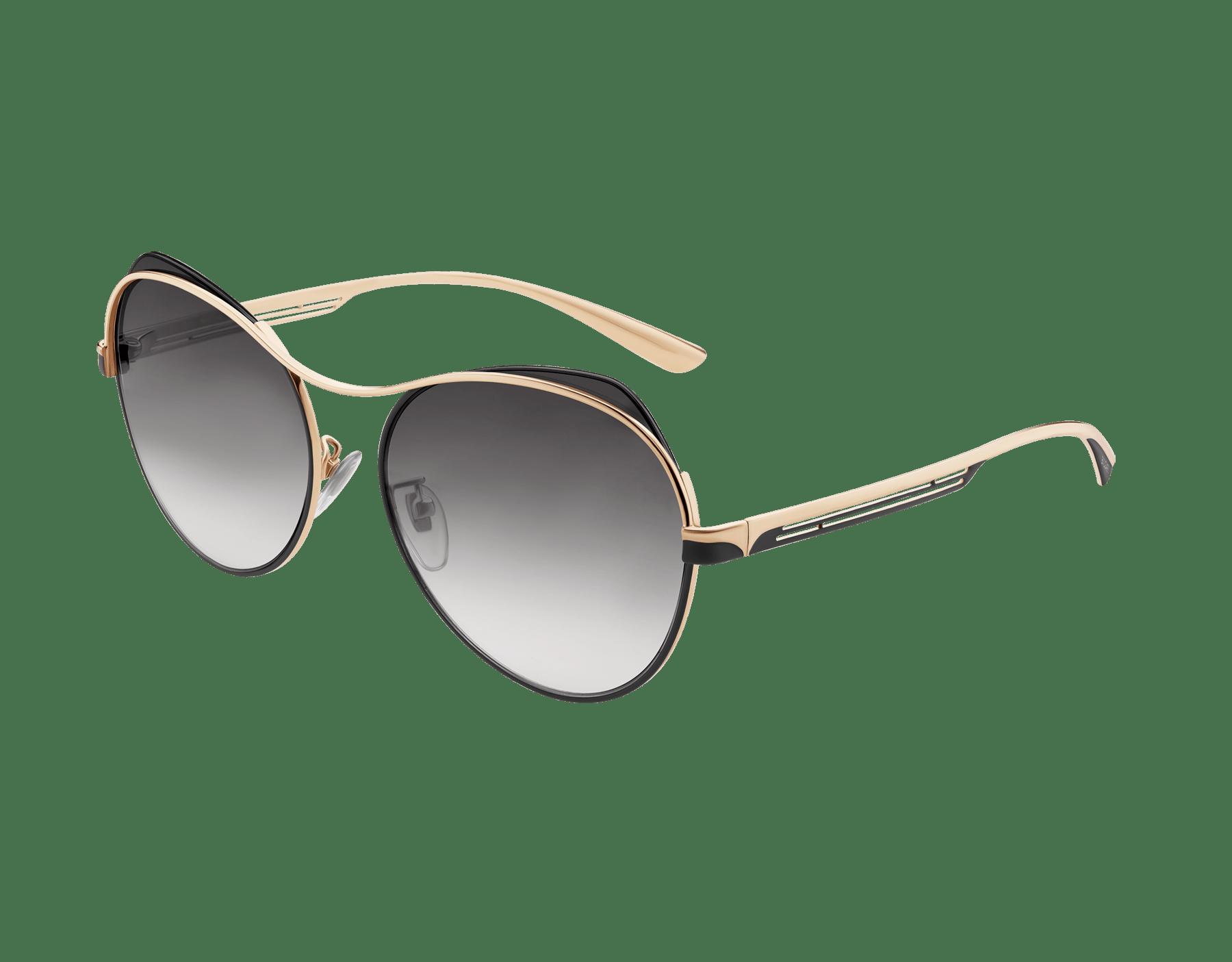 Bulgari B.zero1 B.super occhiali da sole pilot in metallo dalla forma arrotondata. 903723 image 1