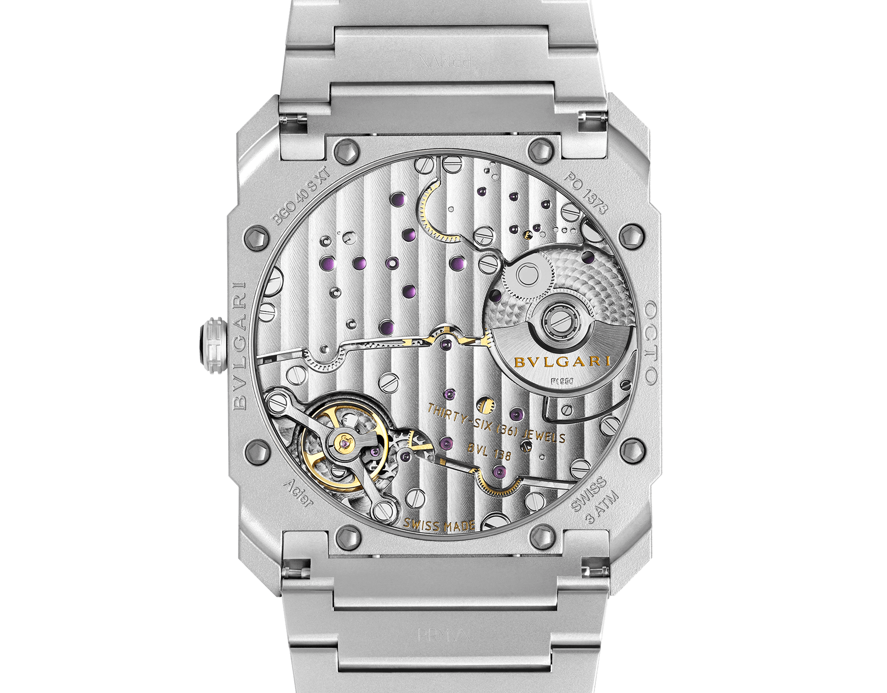 Octo Finissimo Automatic watch with mechanical manufacture movement, automatic winding, platinum microrotor, small seconds, extra-thin stainless steel case, dial and bracelet 103011 image 4