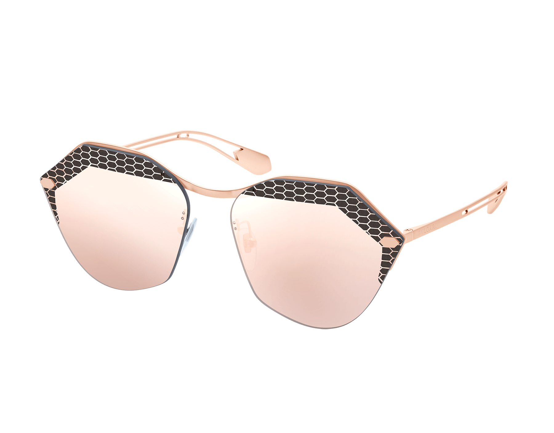 Bulgari Sepenteyes Reverse metal sunglasses with angular lenses. 903563 image 1