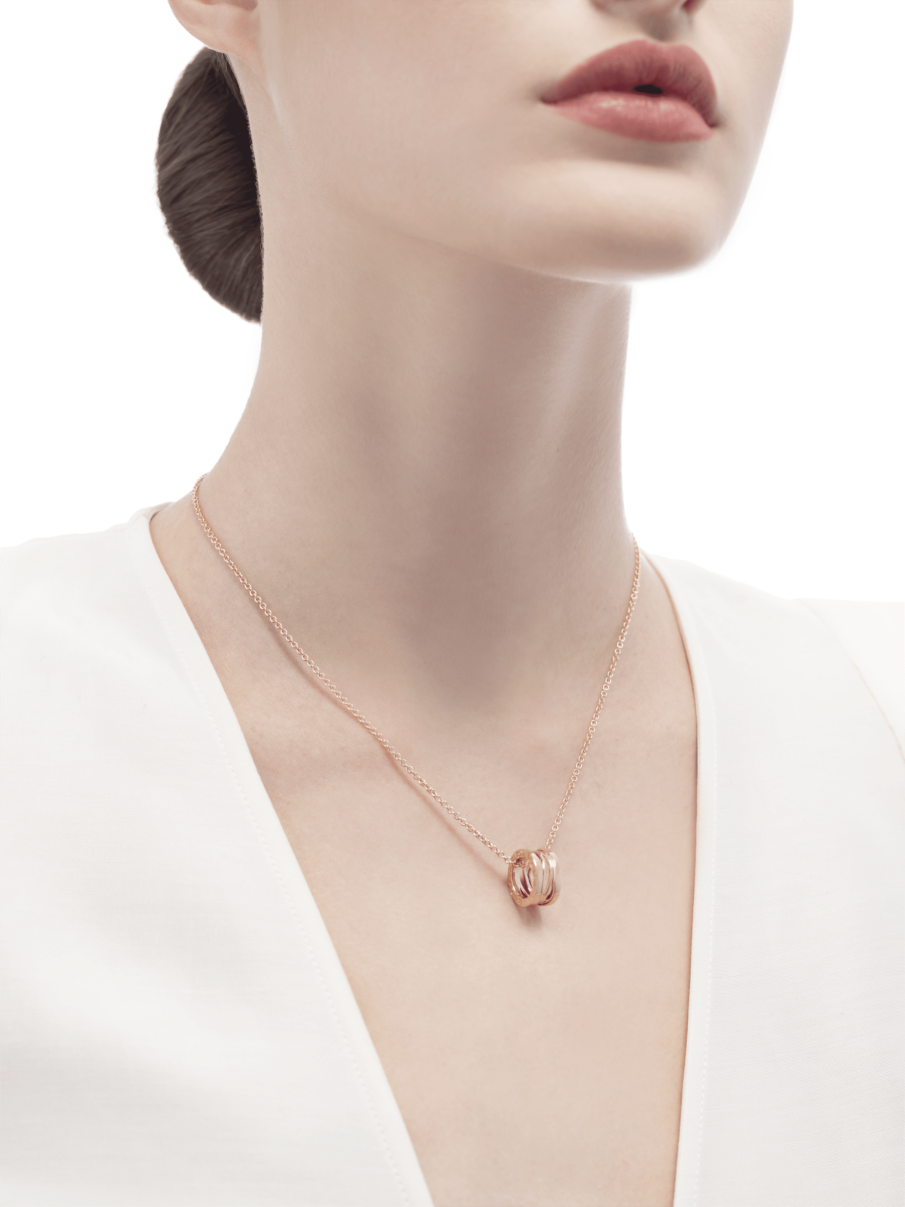B.zero1 Design Legend necklace with pendant, both in 18 kt rose gold. 353795 image 4