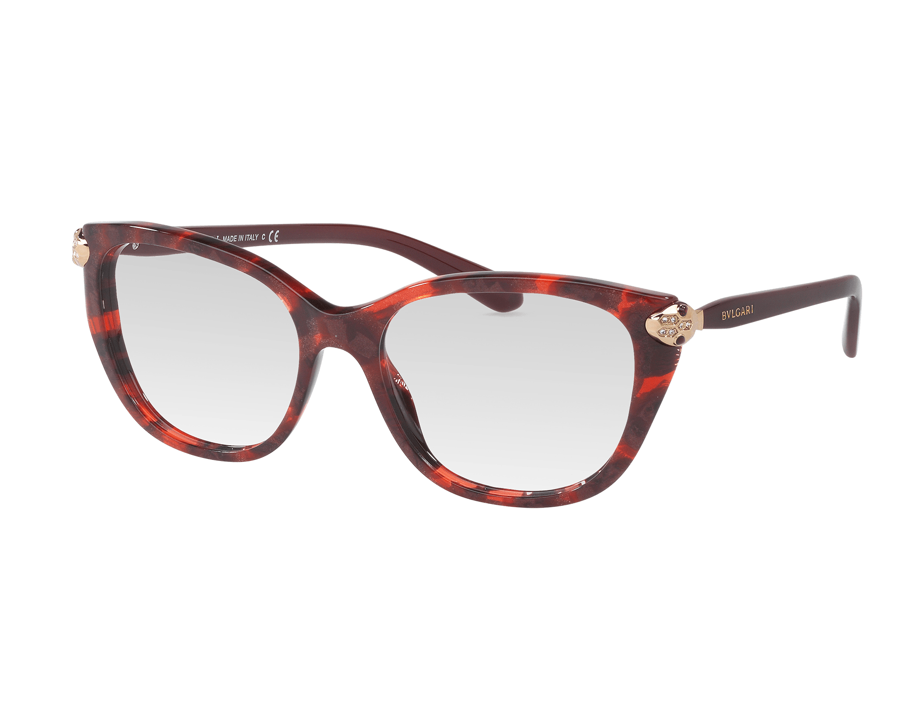 Serpenti soft catye acetate eyeglasses with enamel and crystal décor 903367 image 1