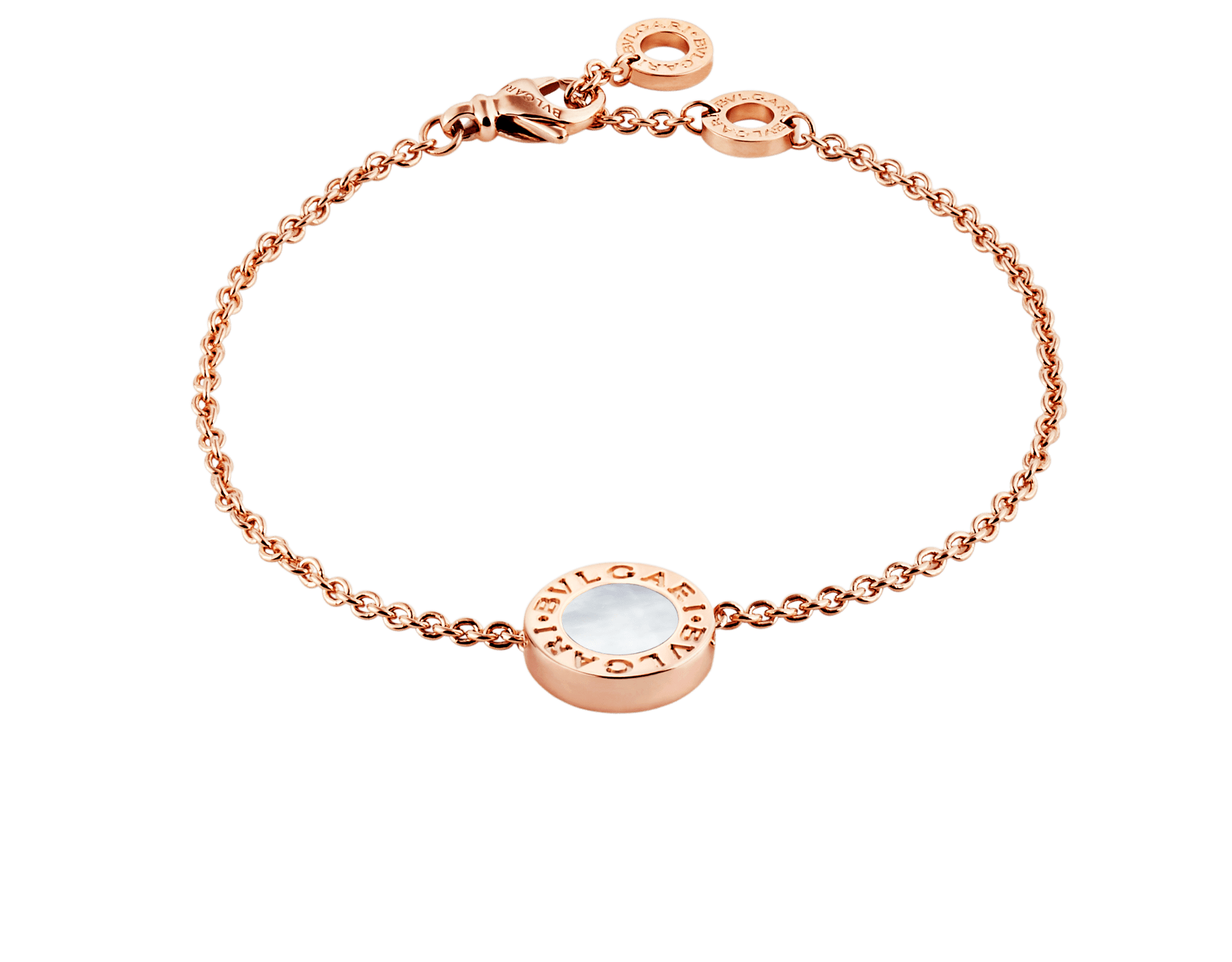 BVLGARI BVLGARI bracelet in 18 kt rose gold set with carnelian and mother-of-pearl round inserts. BR858008 image 3