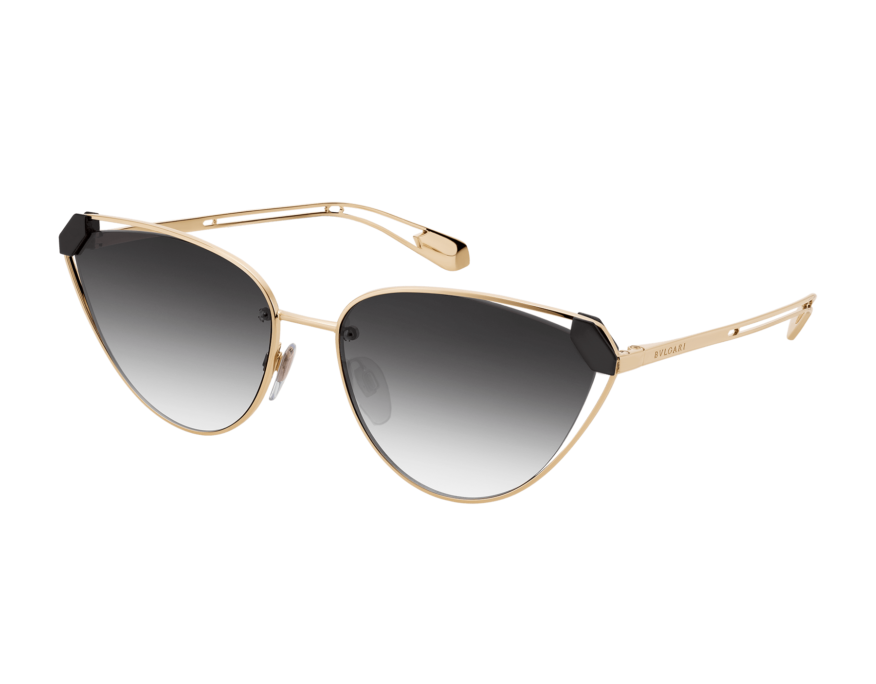 Bvlgari Serpenti Candy Scale narrow cat-eye metal sunglasses. 903728 image 1