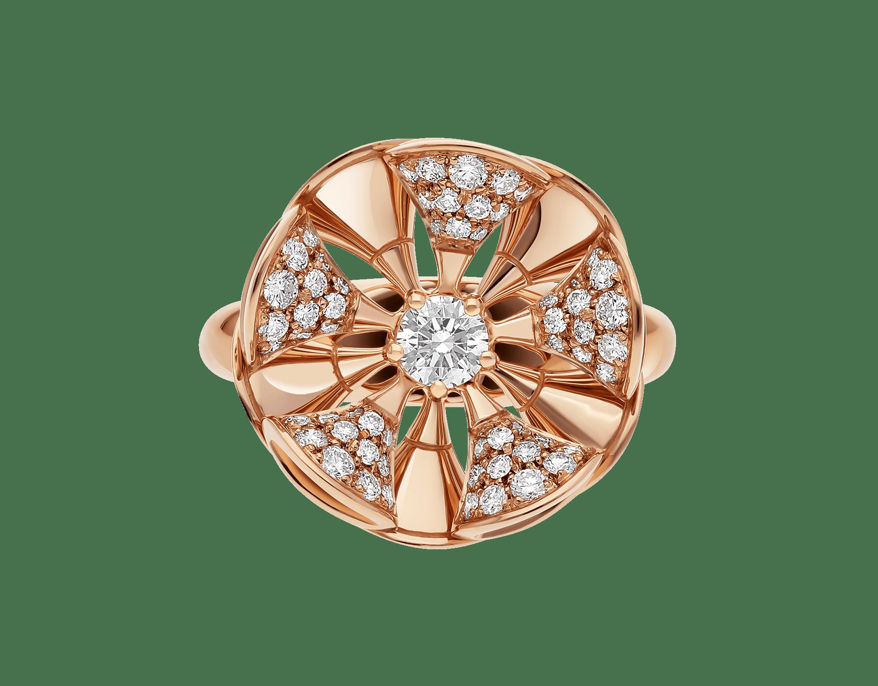 La bague DIVAS' DREAM règne en reine sur le jardin du glamour en se parant d'or rose et de pétales en pavé diamants à l'élégance florale. AN857078 image 3