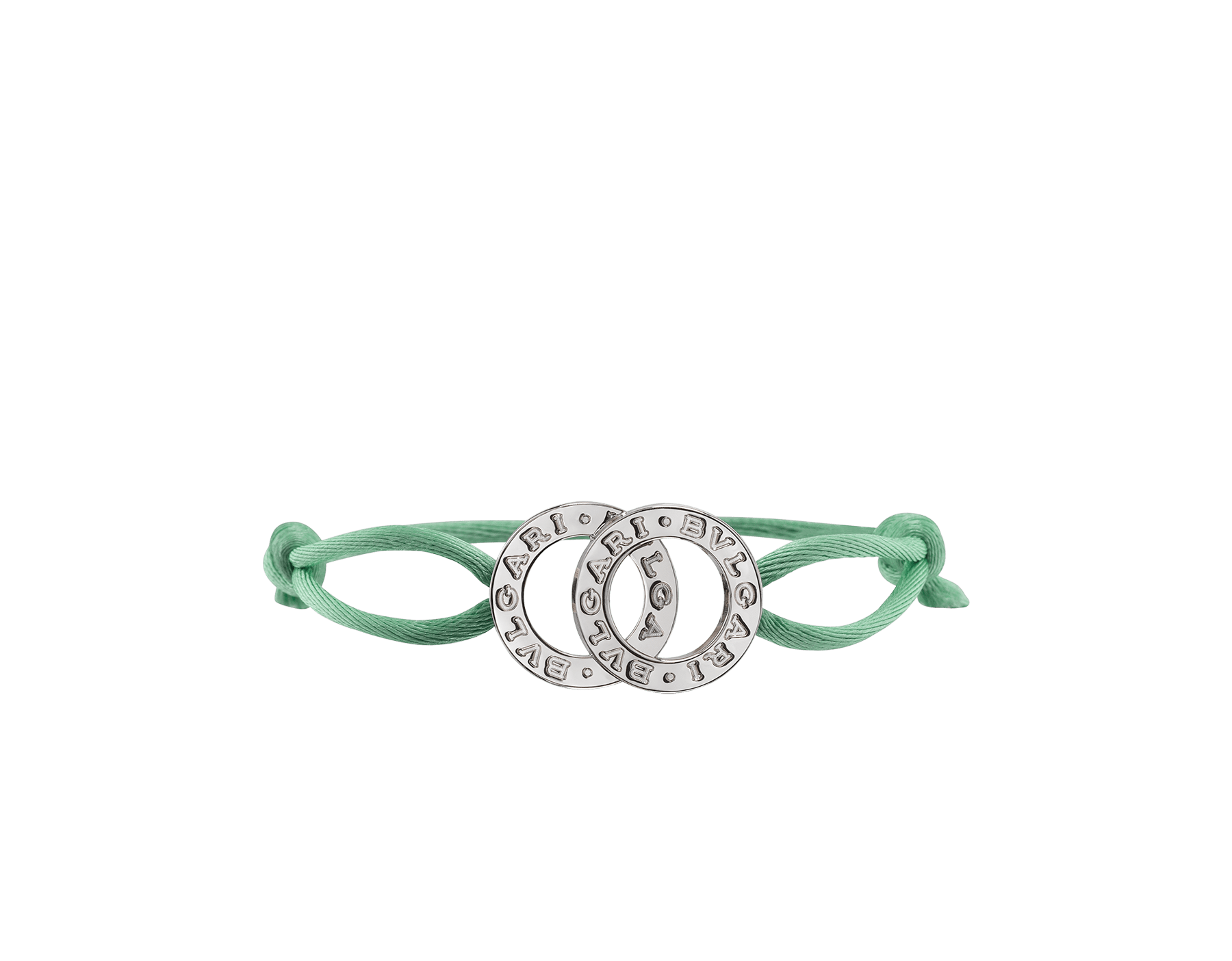 BVLGARI BVLGARI bracelet in tropical tourquoise fabric with an iconic double logo décor in sterling silver. 288453 image 1