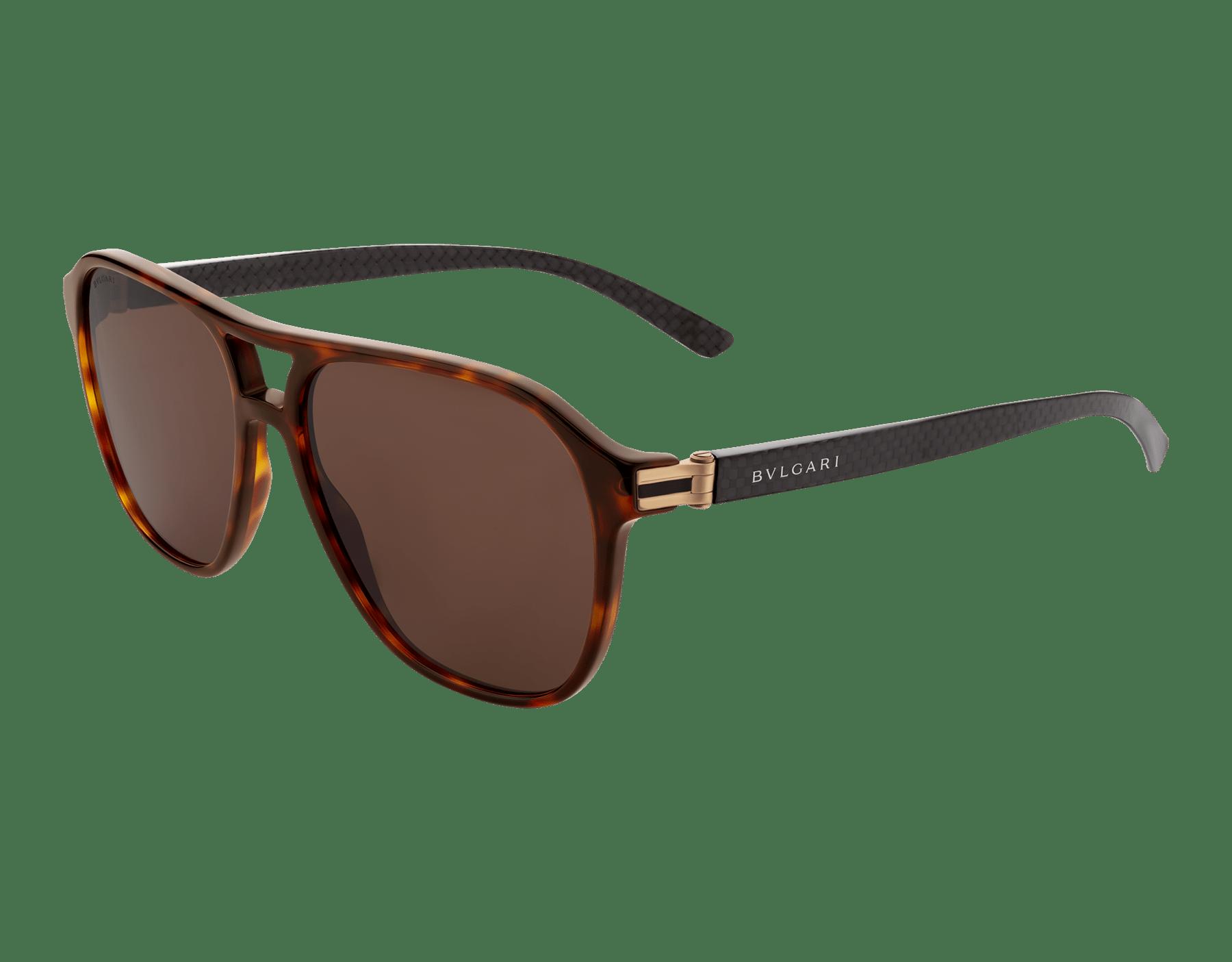 Bvlgari Diagono acetate aviator sunglasses. 903830 image 1