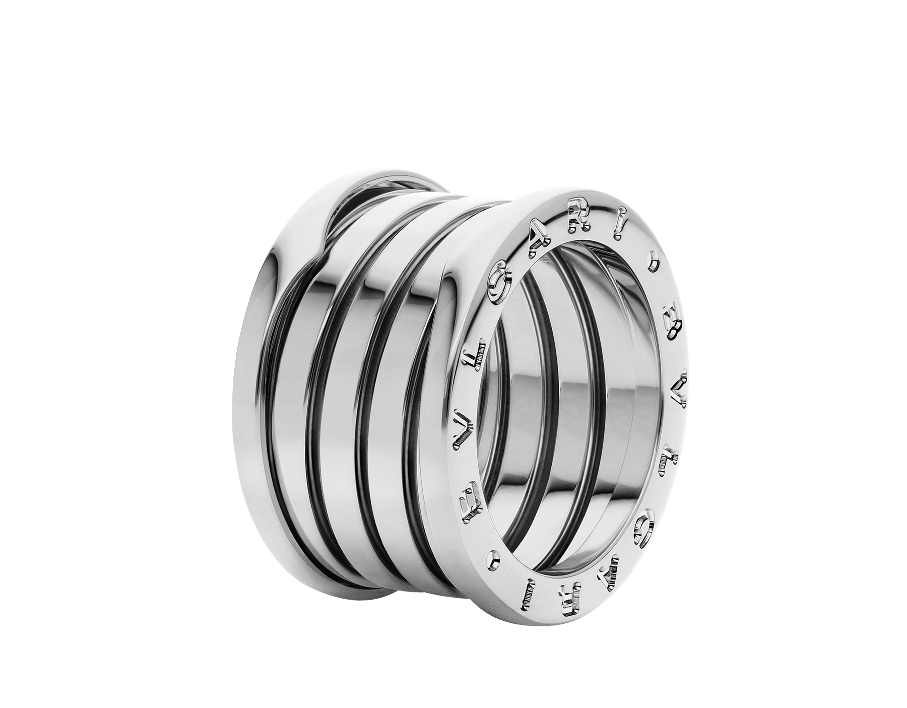 B.zero1 XXth Anniversary five-band ring in 18 kt white gold B-zero1-5-bands-AN858663 image 1