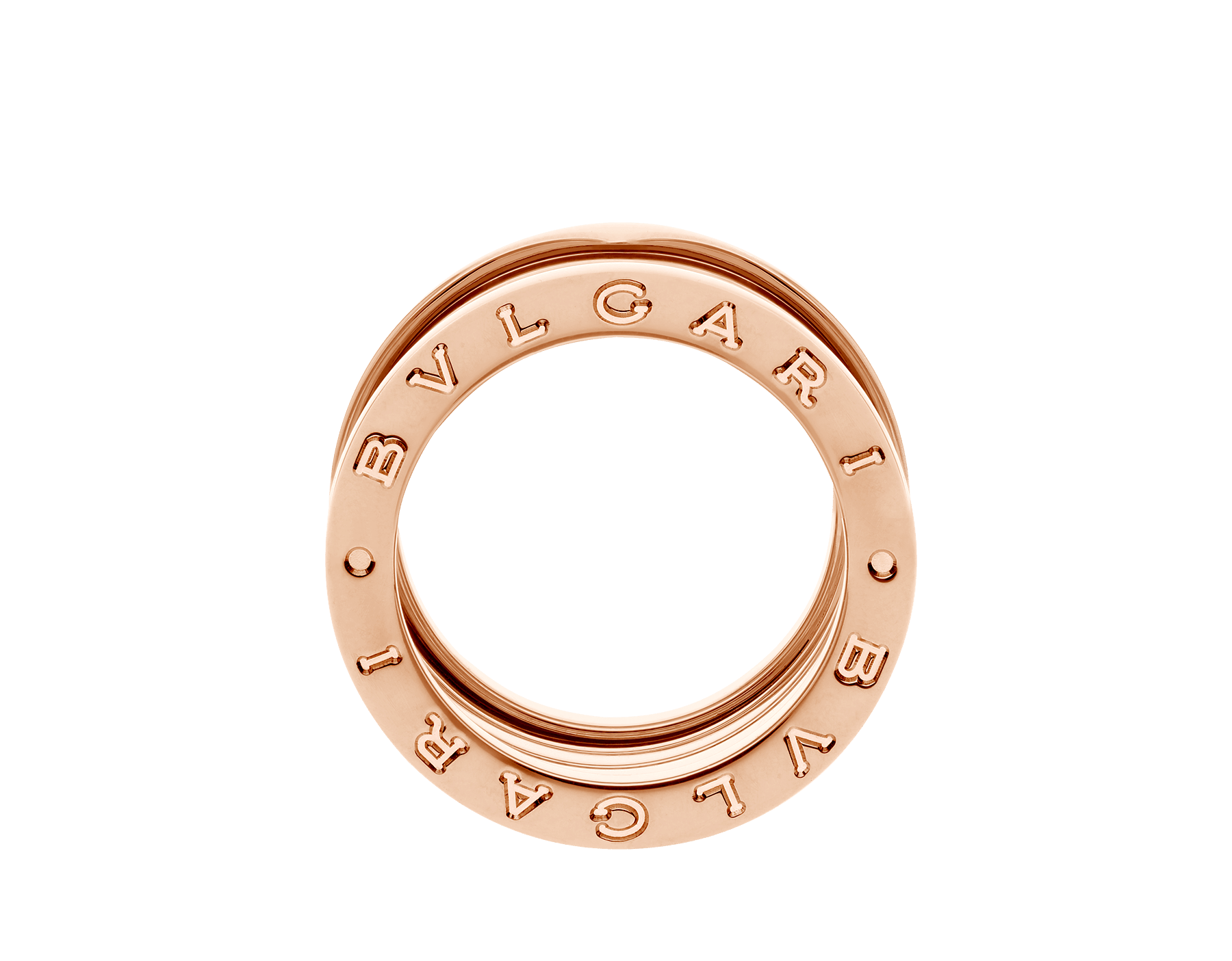 B.zero1 XXth Anniversary five-band ring in 18 kt rose gold B-zero1-5-bands-AN858661 image 3