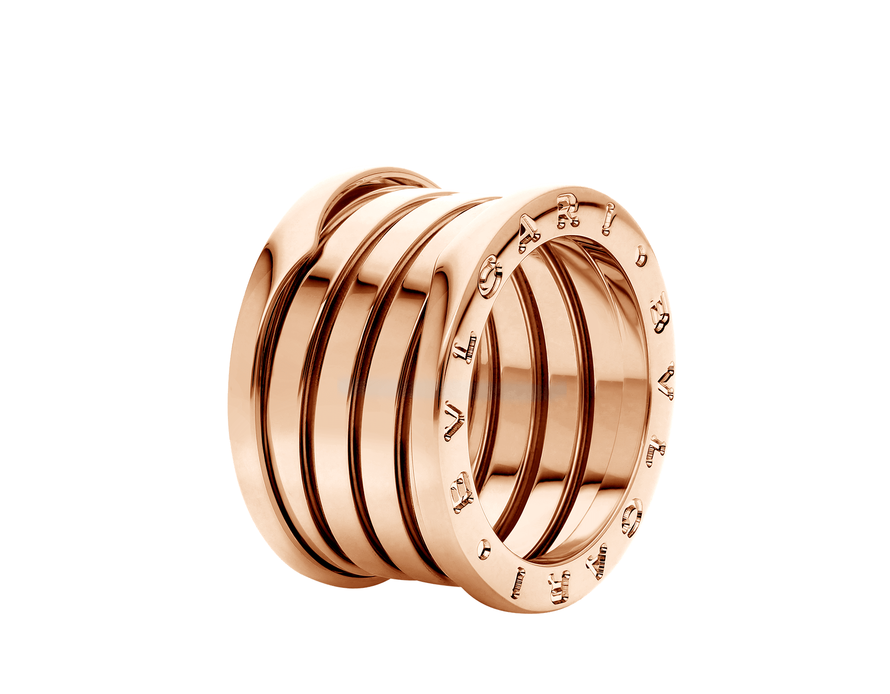 B.zero1 XXth Anniversary five-band ring in 18 kt rose gold B-zero1-5-bands-AN858661 image 1