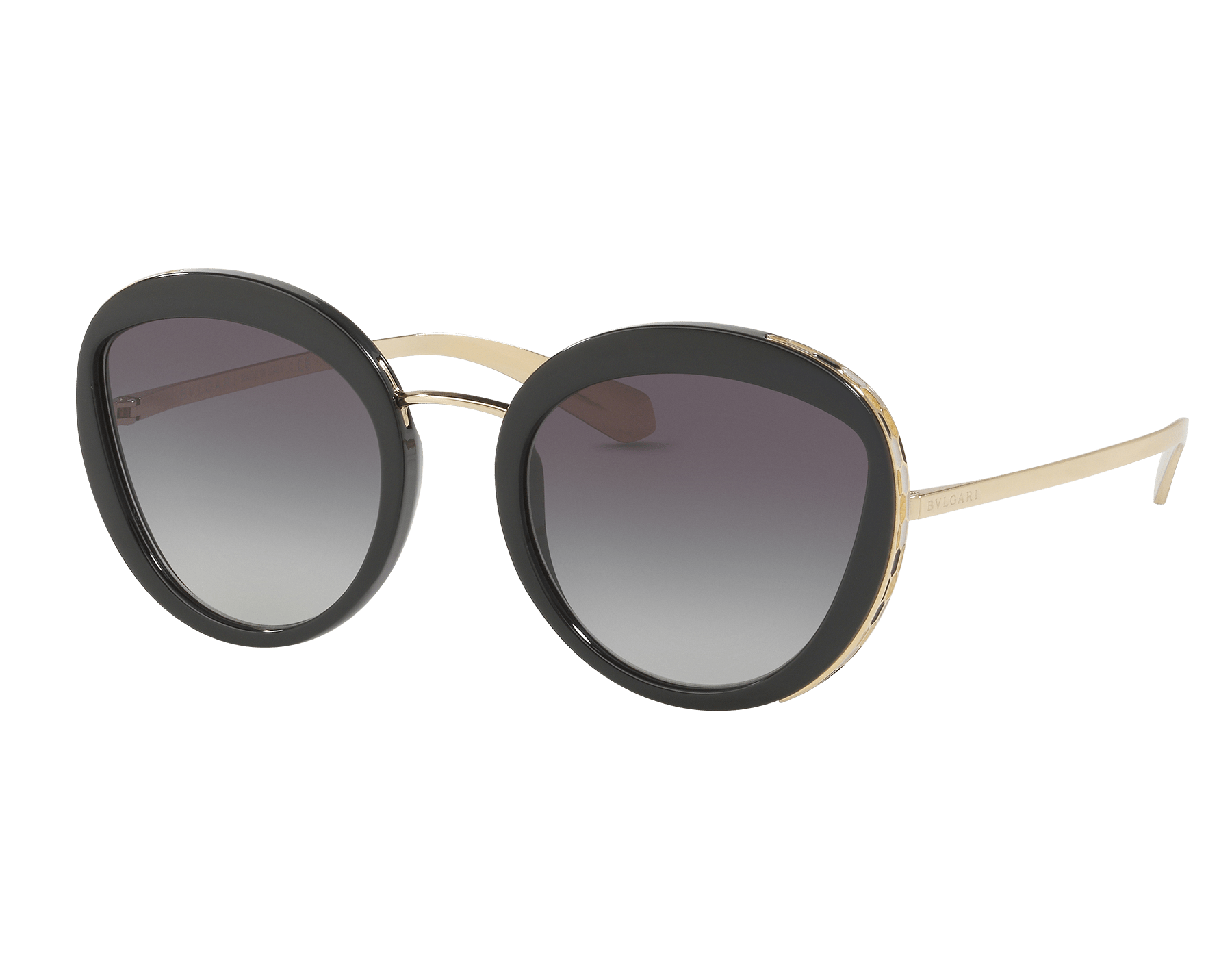 Serpenti round acetate frame Sunglasses with eye-shaped lenses. 903310 image 1