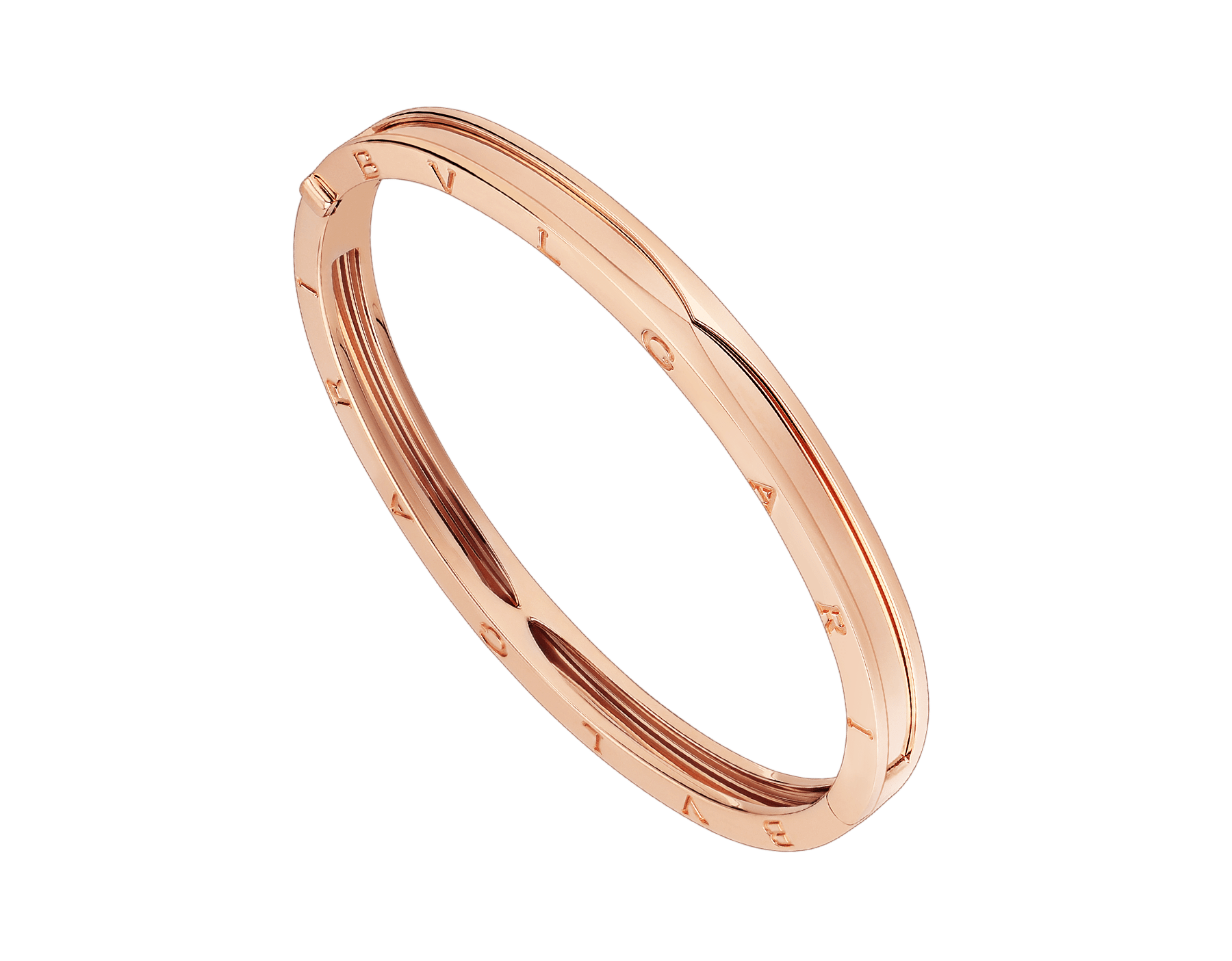 B.zero1 bangle bracelet in 18 kt rose gold. BR857371 image 1