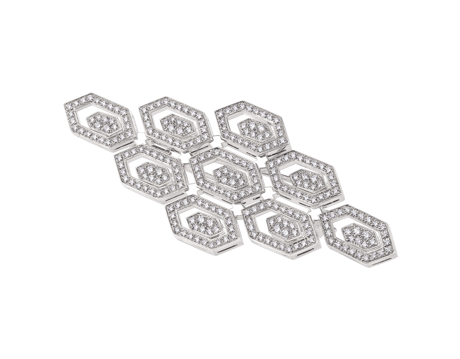 Serpenti 18 kt white gold brooch set with pavé diamonds (1.15 ct) 356120 image 1