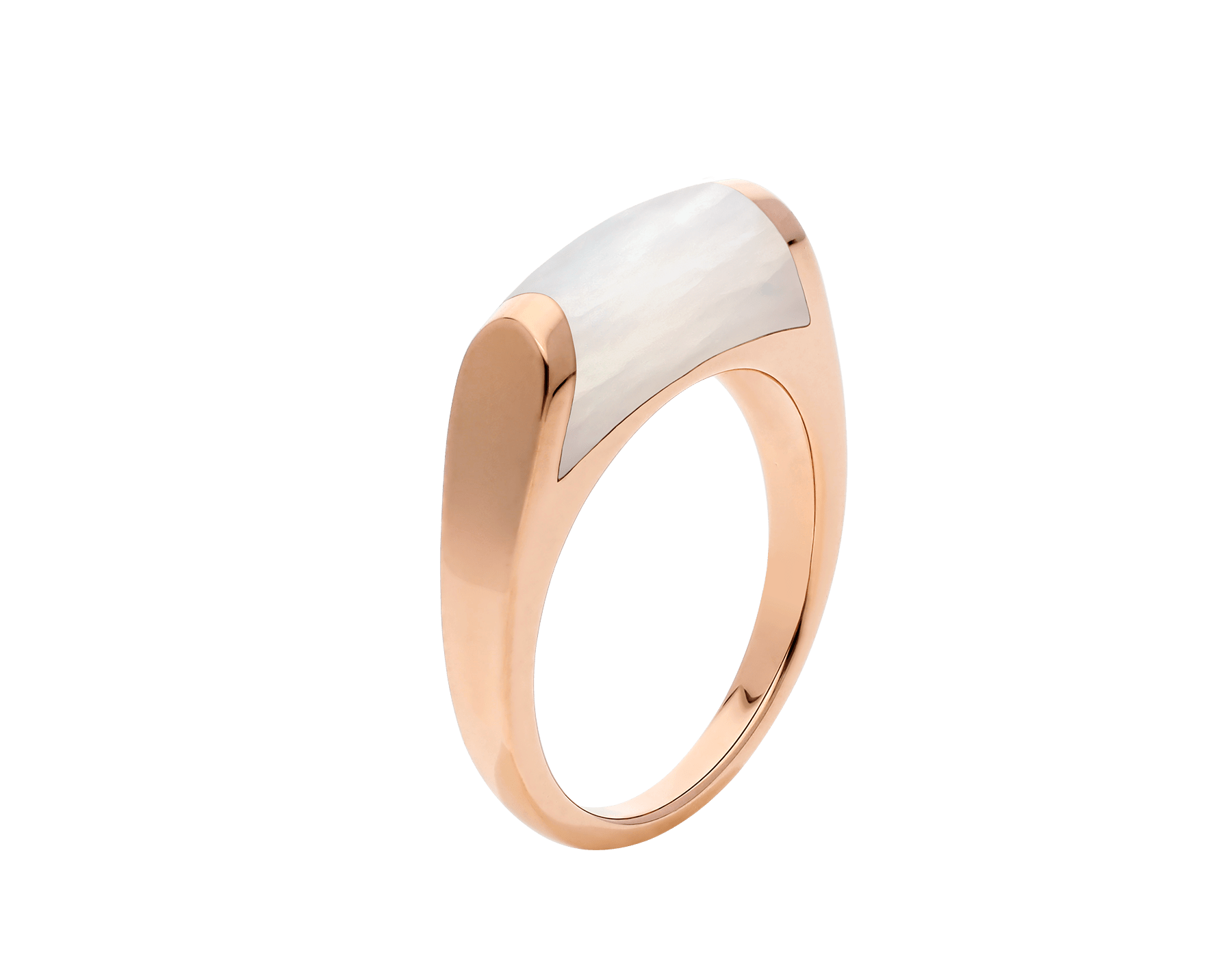 MVSA slim ring in 18 kt rose gold, set with a mother-of-pearl. AN857839 image 1