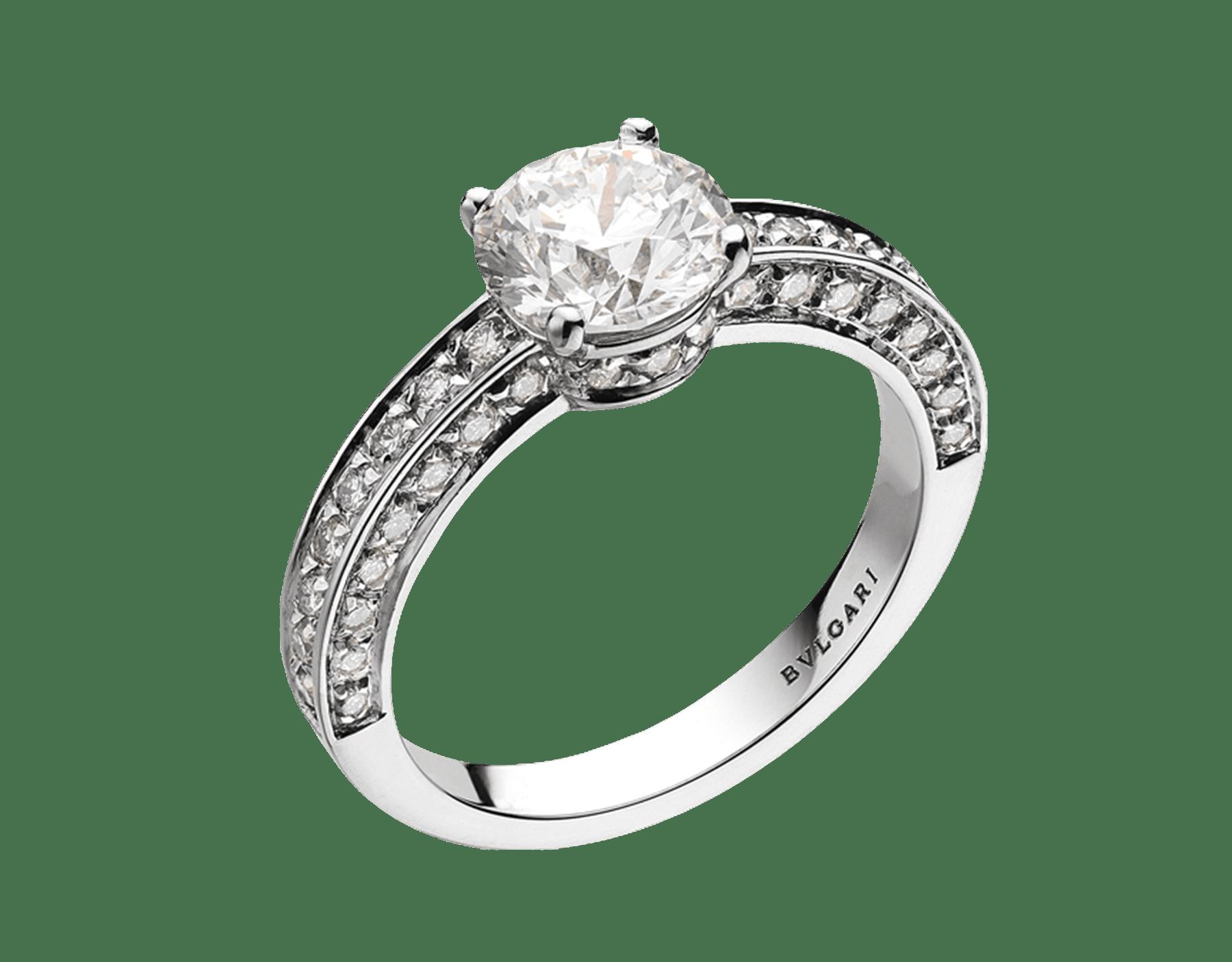 Dedicata a Venezia: 1503 鉑金單顆美鑽戒指,鑲飾圓形明亮型切割鑽石和密鑲鑽石。鑽石重量 0.30 克拉起。定情戒在歷史上最早見於西元 1503 年,這款戒指就是以此命名。 344083 image 1