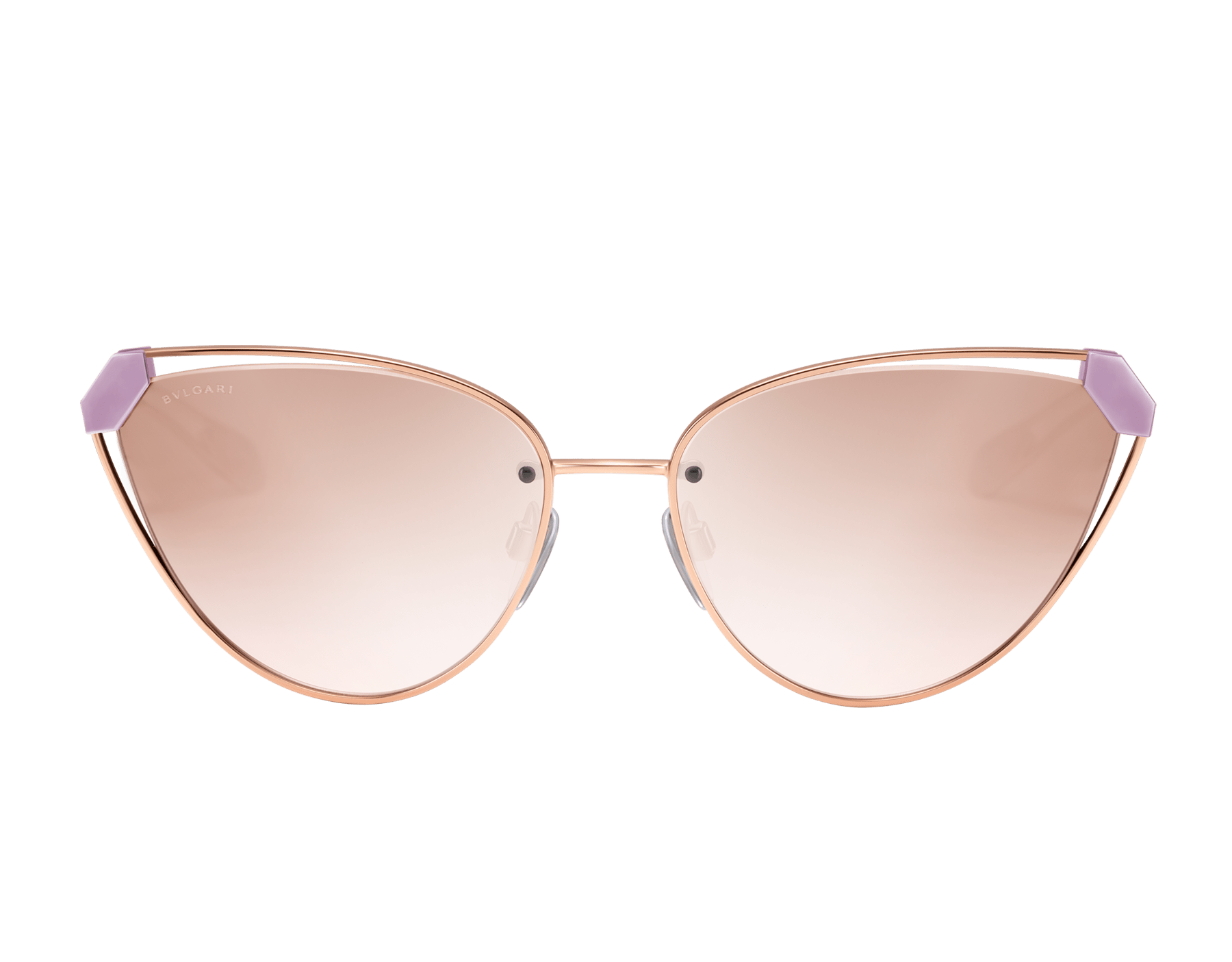 Bvlgari Serpenti Candy Scale narrow cat-eye metal sunglasses. 903727 image 2