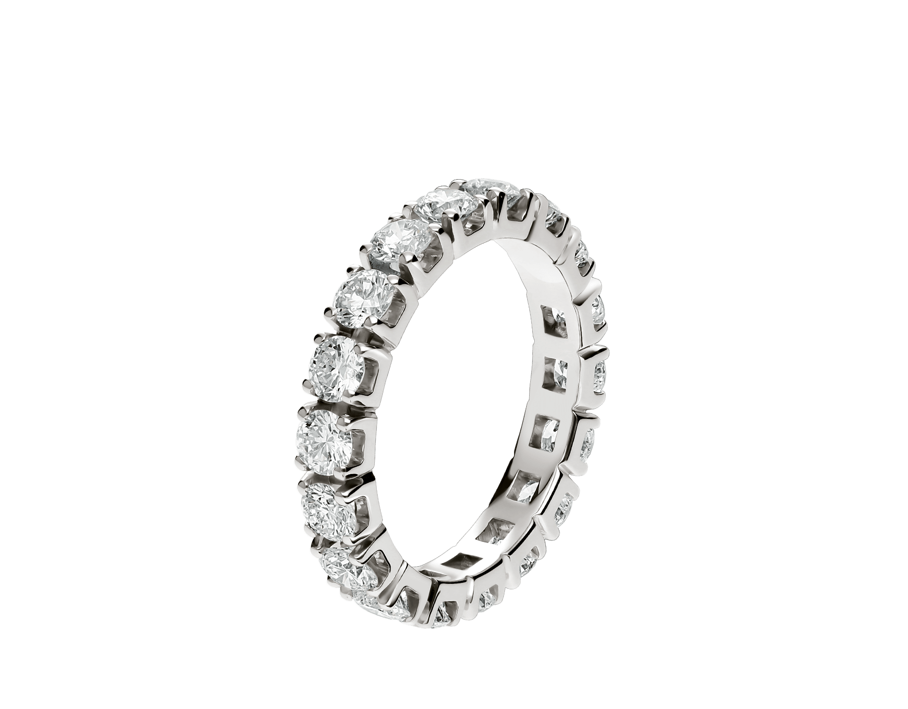 Alliance Eternity en or blanc 18 K sertie de diamants AN203902 image 1
