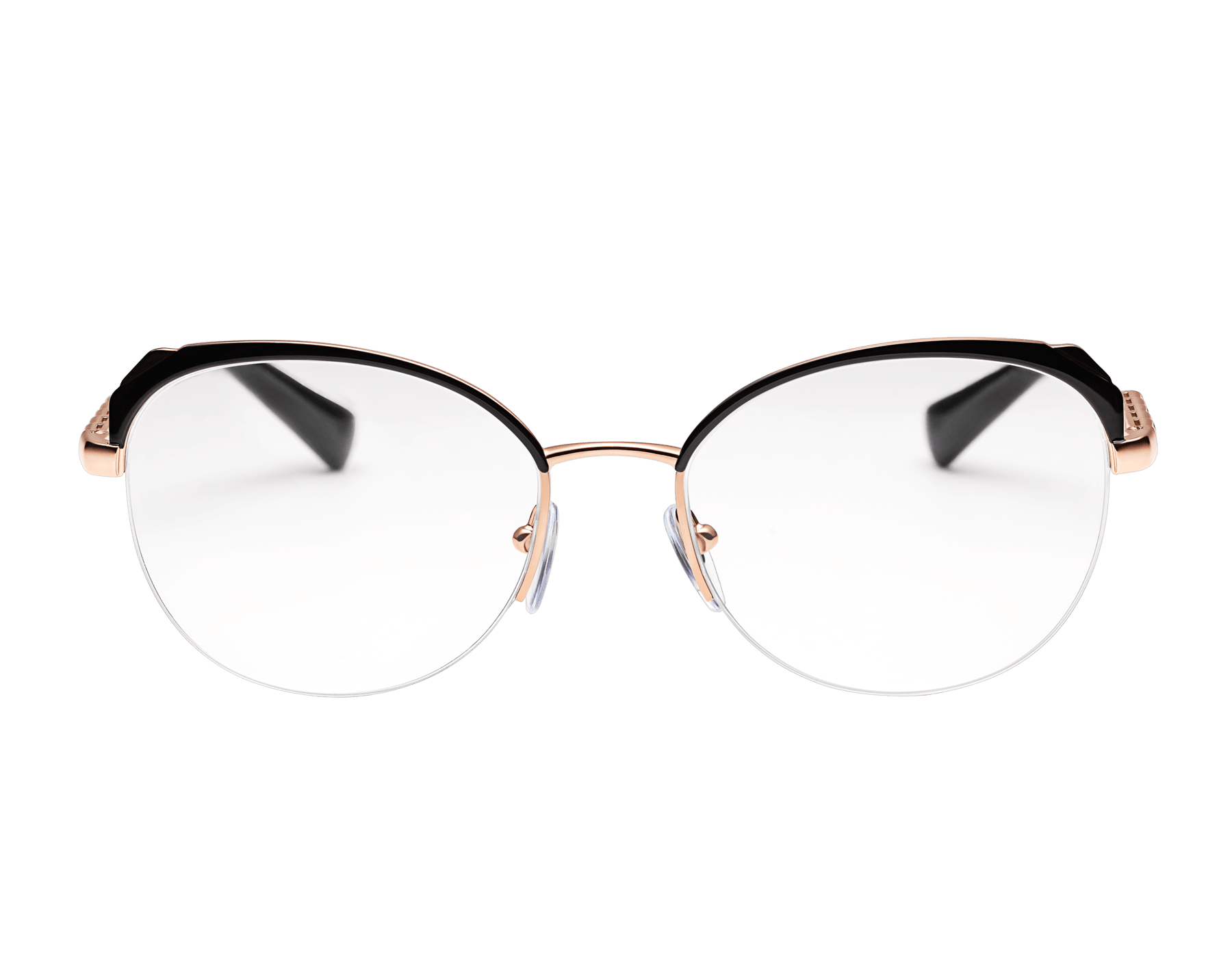 "Le Gemme Serpenti ""Spell"" gold plated rounded cat-eye glasses with mother-of-pearl inserts. 904050 image 2"