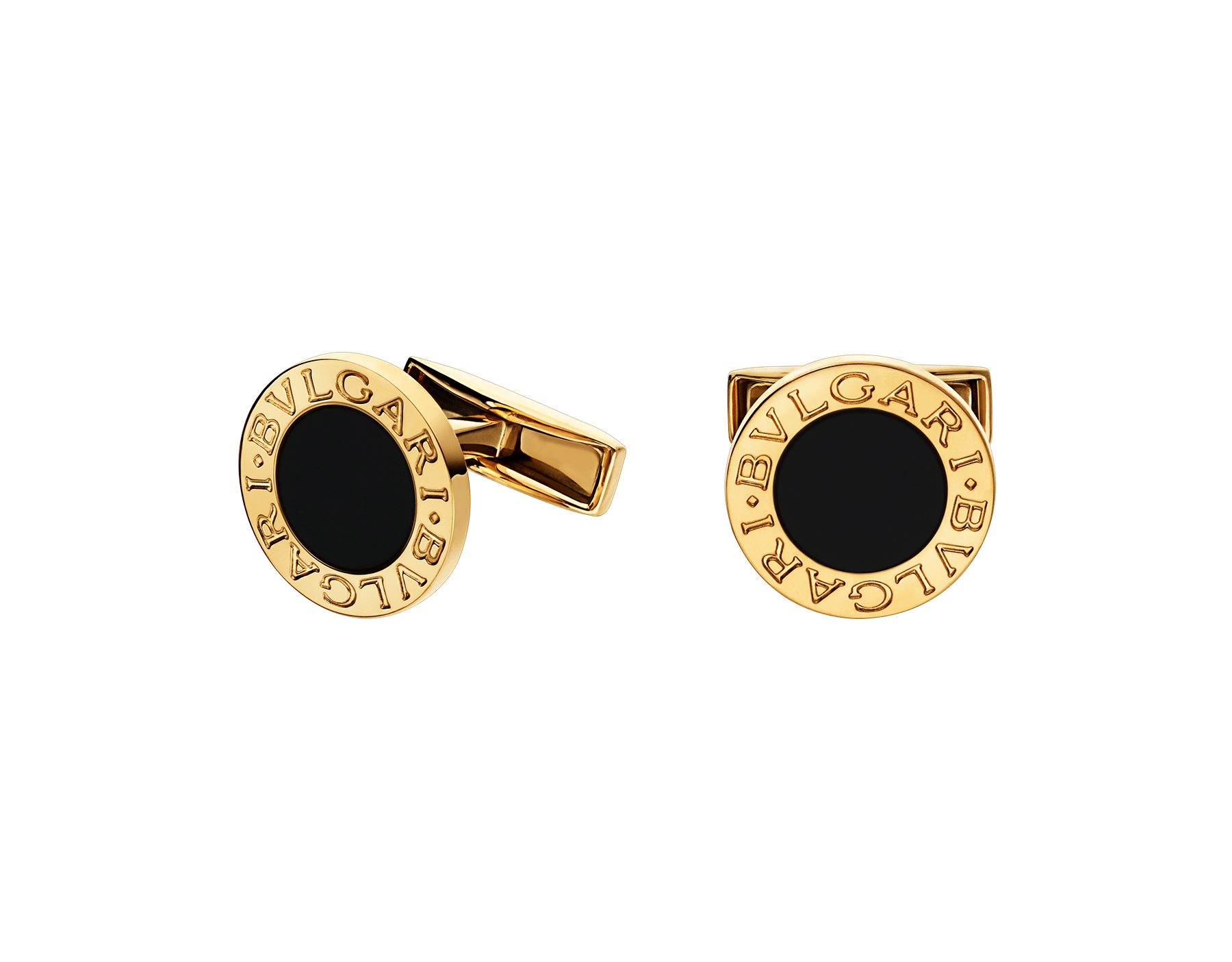 BVLGARI BVLGARI 18kt yellow gold cufflinks set with black onyx elements 322302 image 1