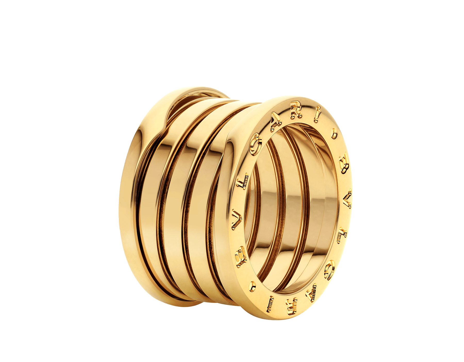 B.zero1 XXth Anniversary five-band ring in 18 kt yellow gold B-zero1-5-bands-AN858662 image 1