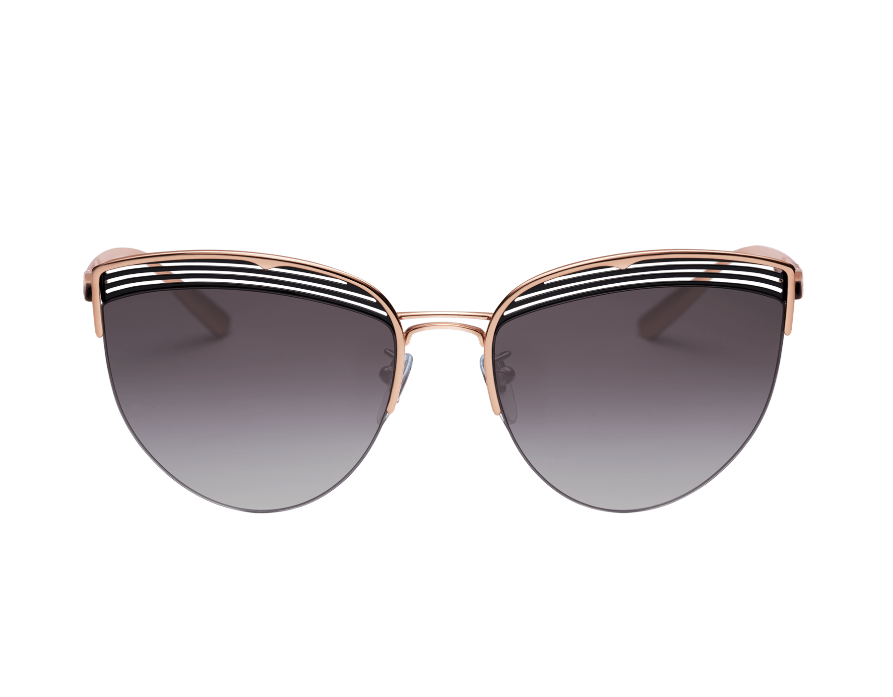 Bvlgari B.zero1 B.purevibes semi-rimless cat-eye metal sunglasses. 903712 image 2